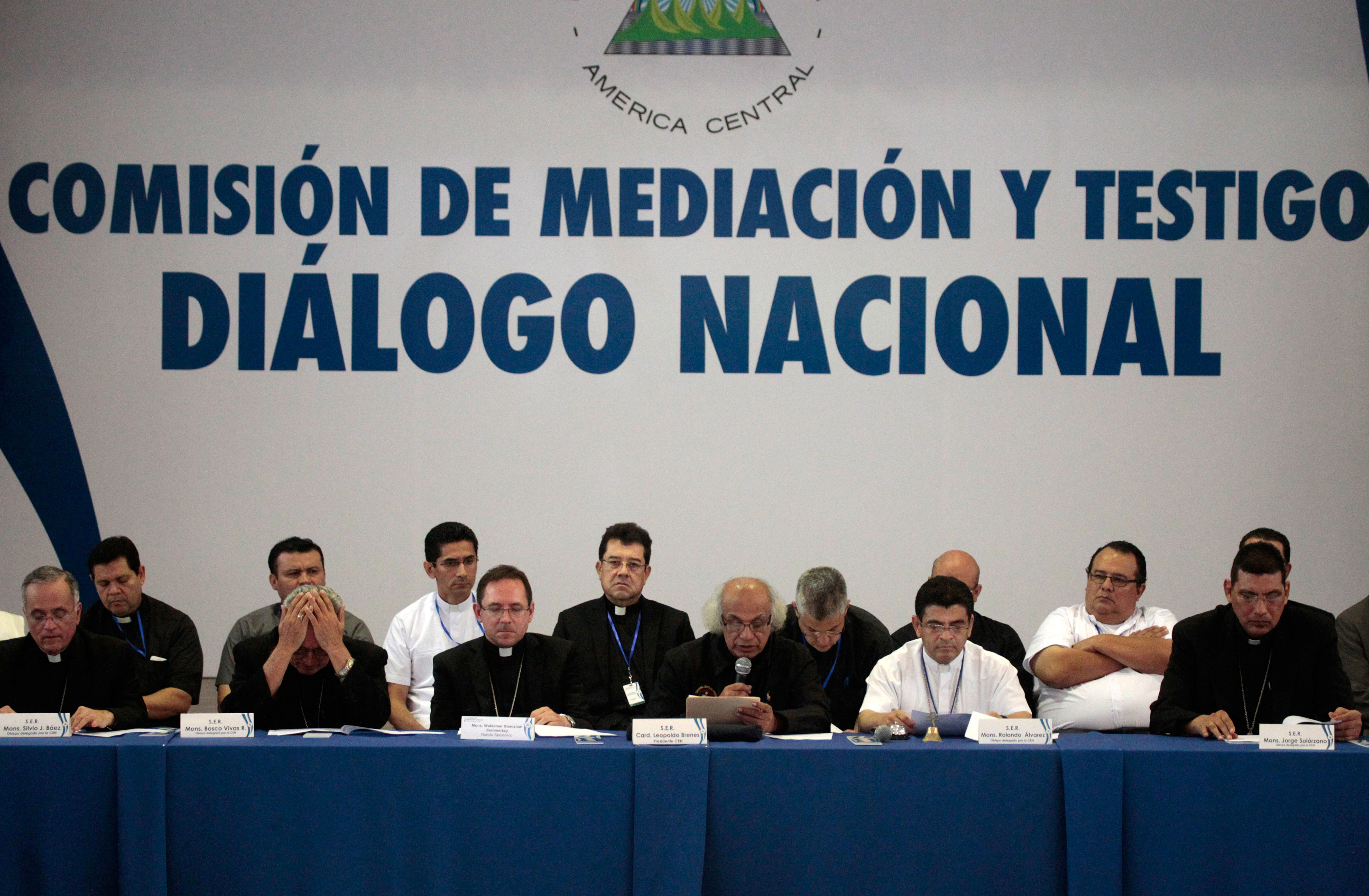 A general view during the national dialogue in Managua, Nicaragua, June 16, 2018.