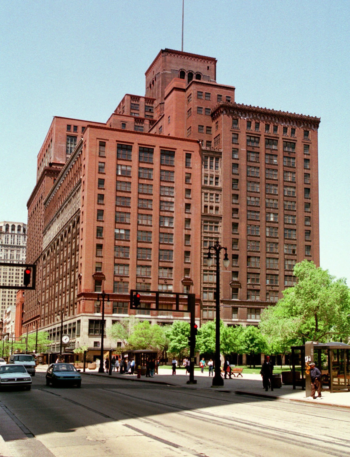 J.L. Hudson's department store stands in downtown Detroit, May 31, 1996. The iconic store's 1983 closing epitomized Detroit's economic downfall.