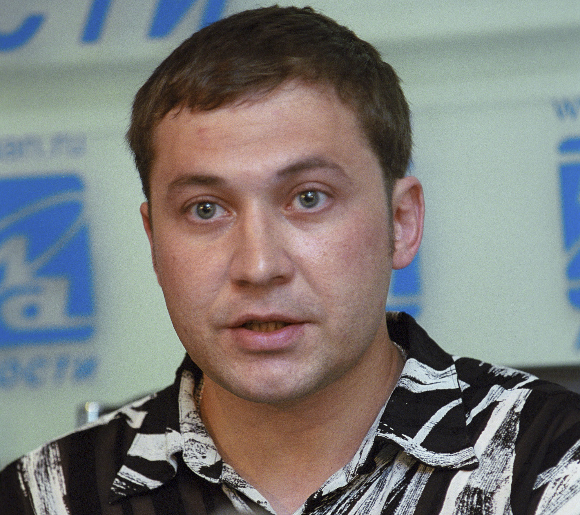 FILE - Russian Muslim Airat Vakhitov speaks at a news conference in Moscow, June 28, 2005.
