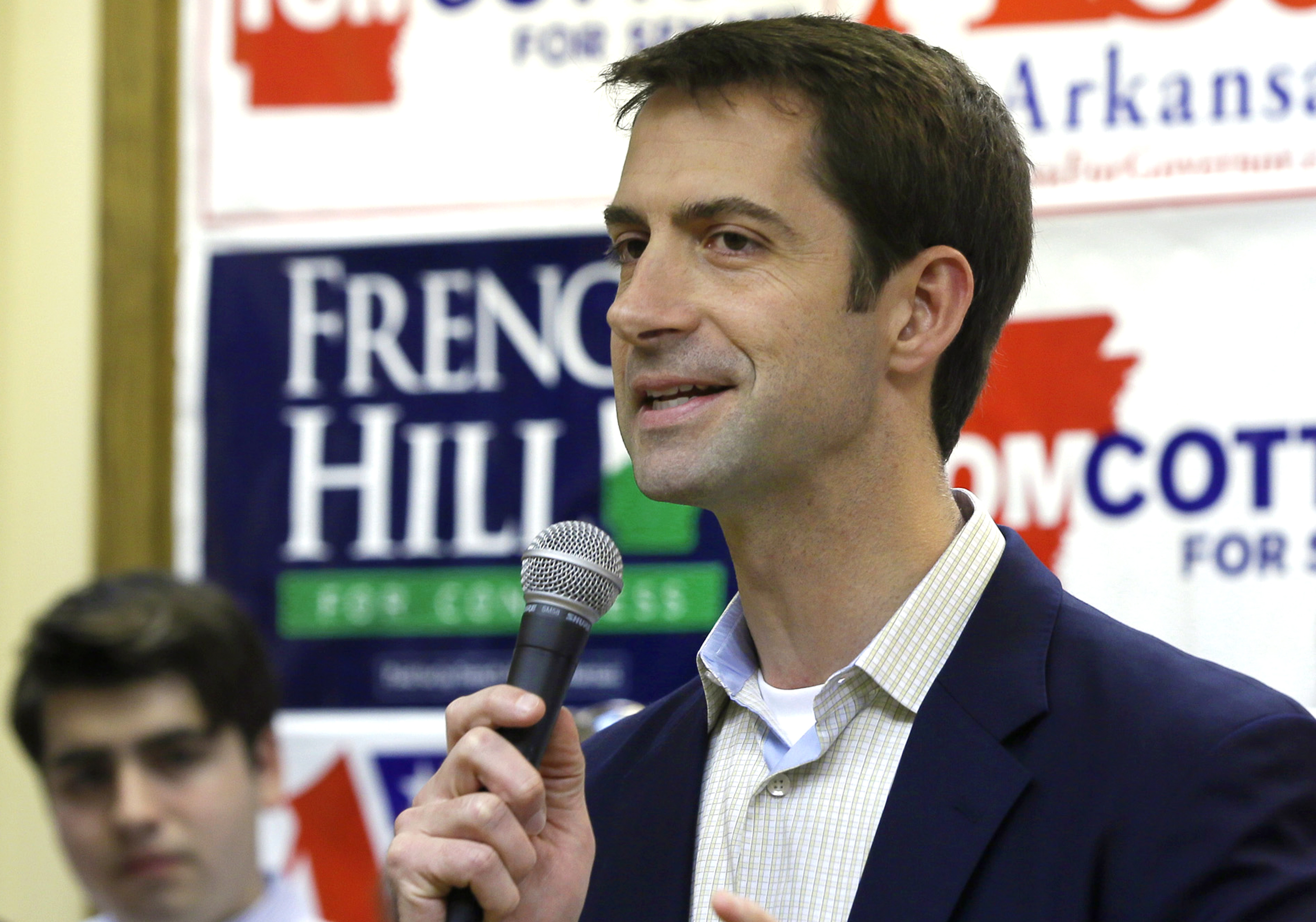 FILE - Arkansas Republican Tom Cotton is the author of a letter seeking to inform Iran's leaders that any nuclear agreement involving the United States could face constitutional hurdles.