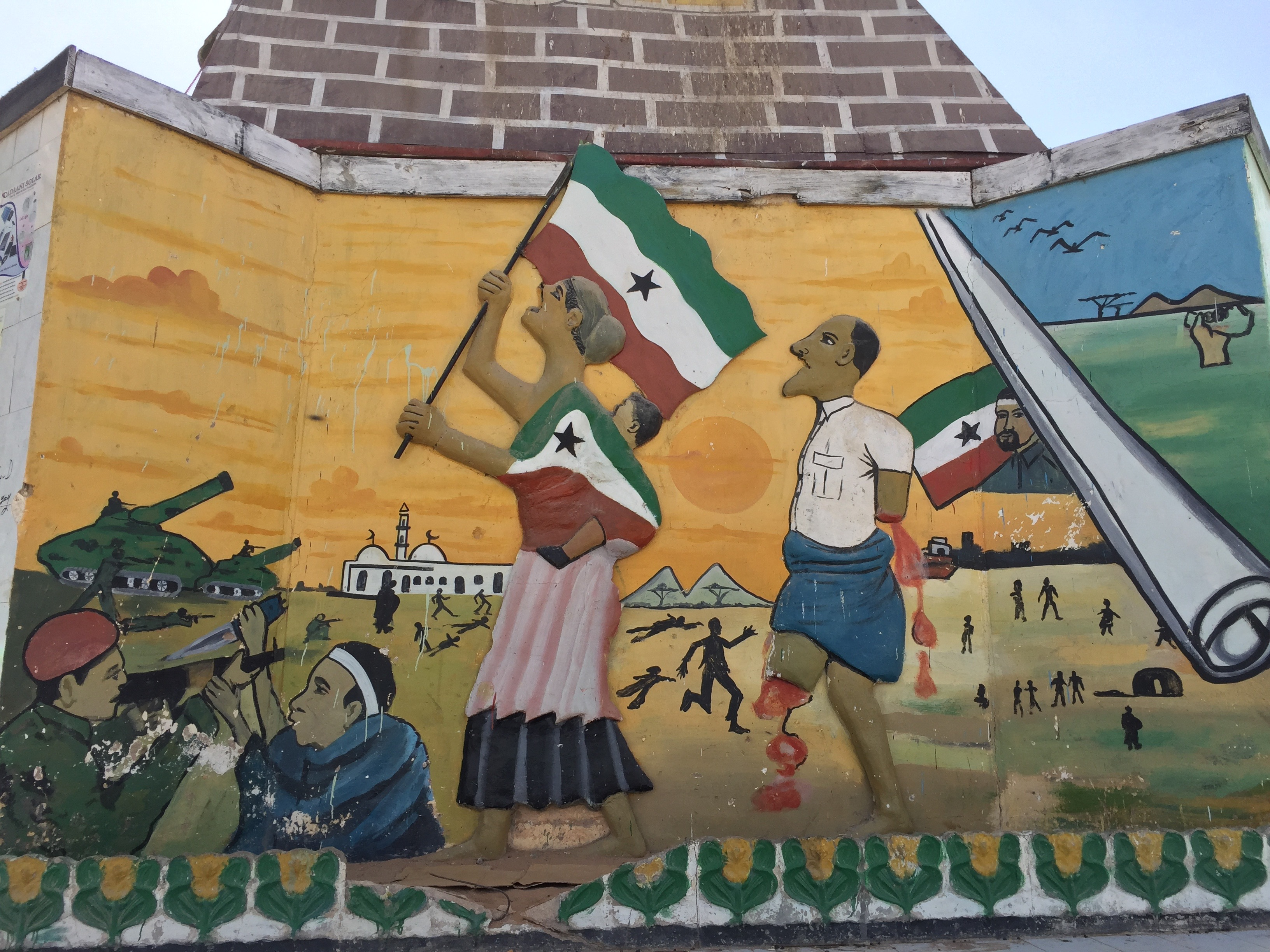 Memorial to victims of Somaliland's civil war, from 1988 to 1991,  in Hargeisa, Somaliland, March 31, 2016. (J. Craig/VOA)