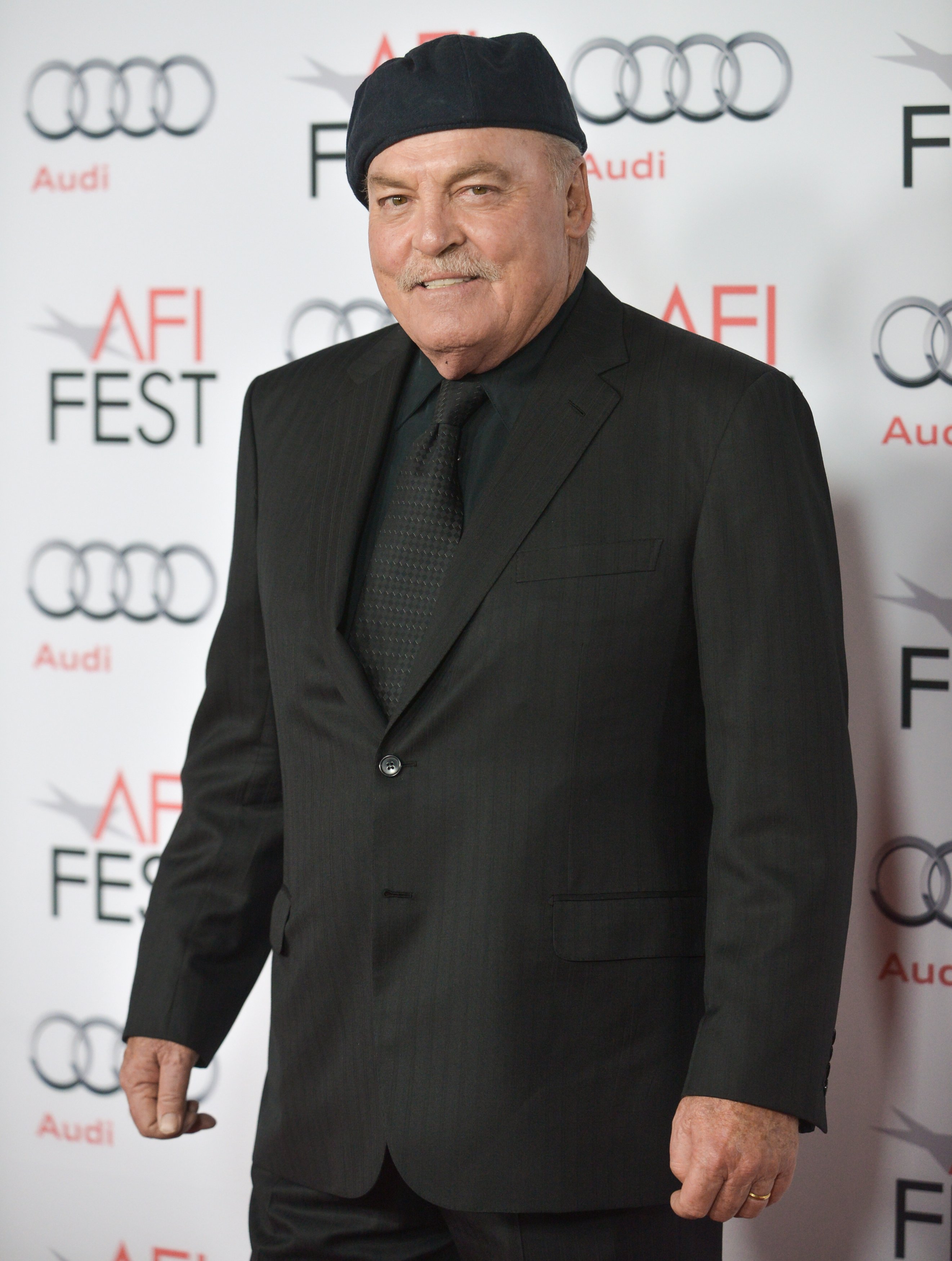 """FILE - Stacey Keach arrives at the 2013 AFI Fest premiere of """"Nebraska"""" at the TCL Chinese Theatre in Los Angeles, Nov. 11, 2013."""