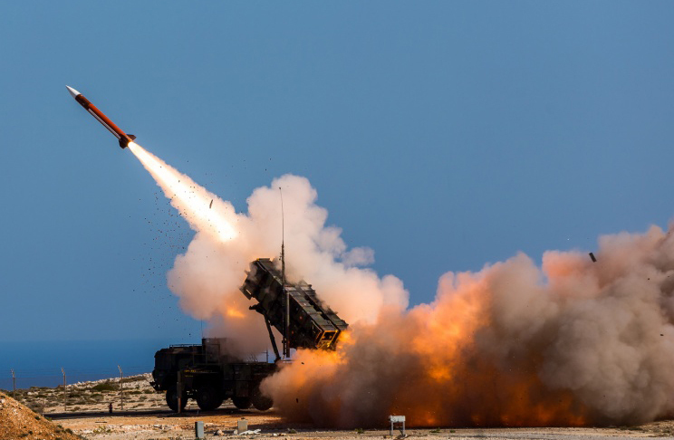 FILE - Patriot weapons system being fired at the NATO Missile Firing Installation in Chania, Greece. Online videos are raising new questions about Saudi Arabia's claims that it has intercepted nearly every ballistic missile launched by Shi'ite rebels...