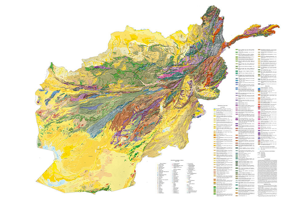 Map: Geologic and mineral resource map of Afghanistan