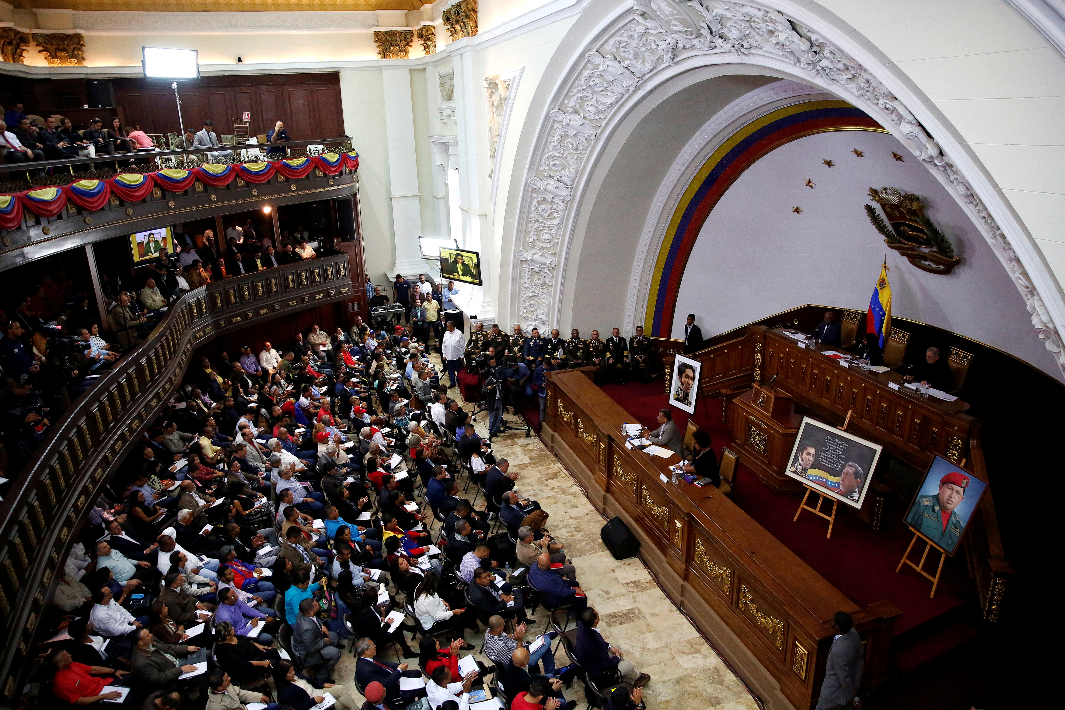 A view of a session of the National Constituent Assembly in Caracas, Venezuela, Aug. 8, 2017.