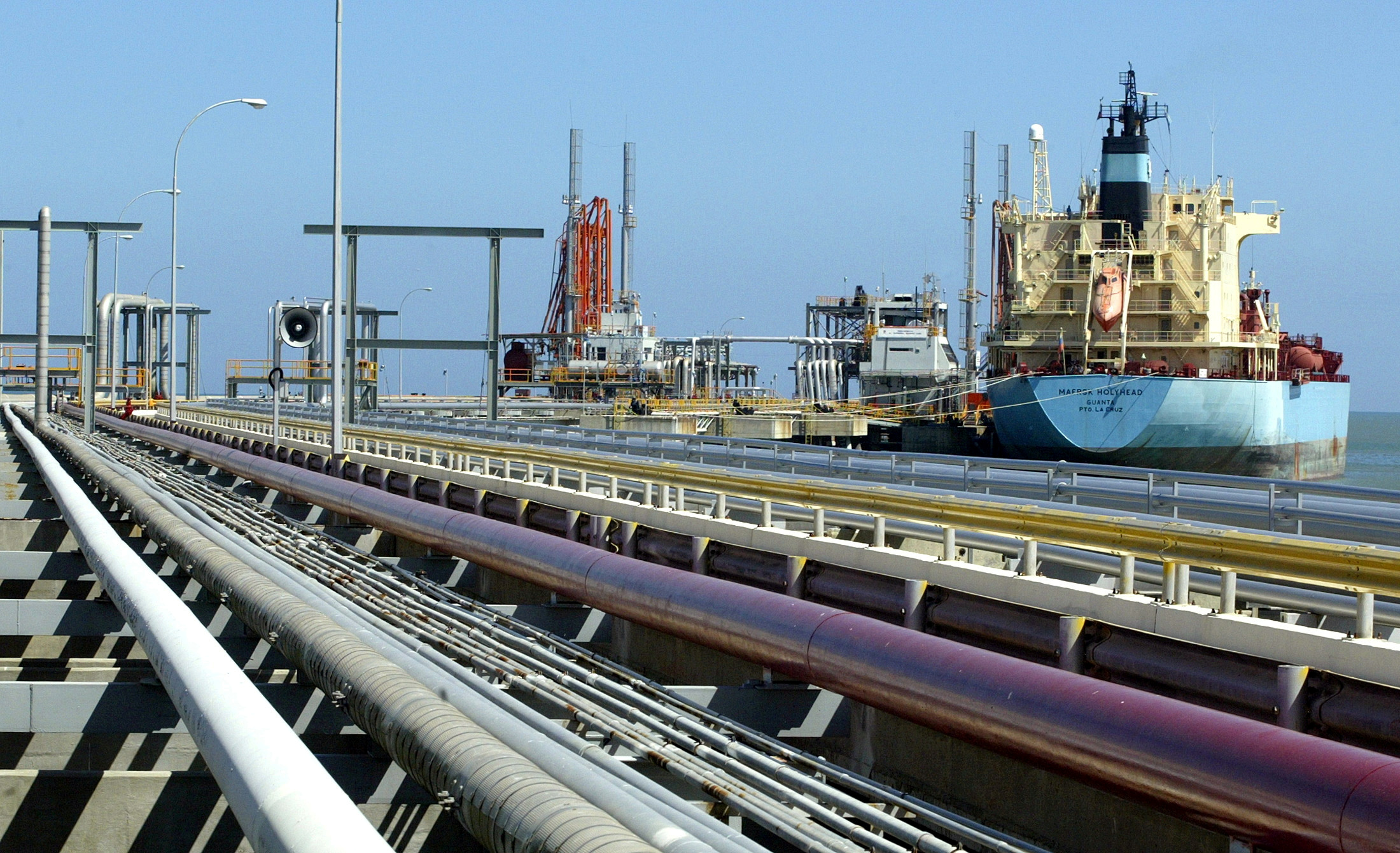 FILE PHOTO: An oil tanker is seen at Jose refinery cargo terminal in Venezuela in this undated photo.