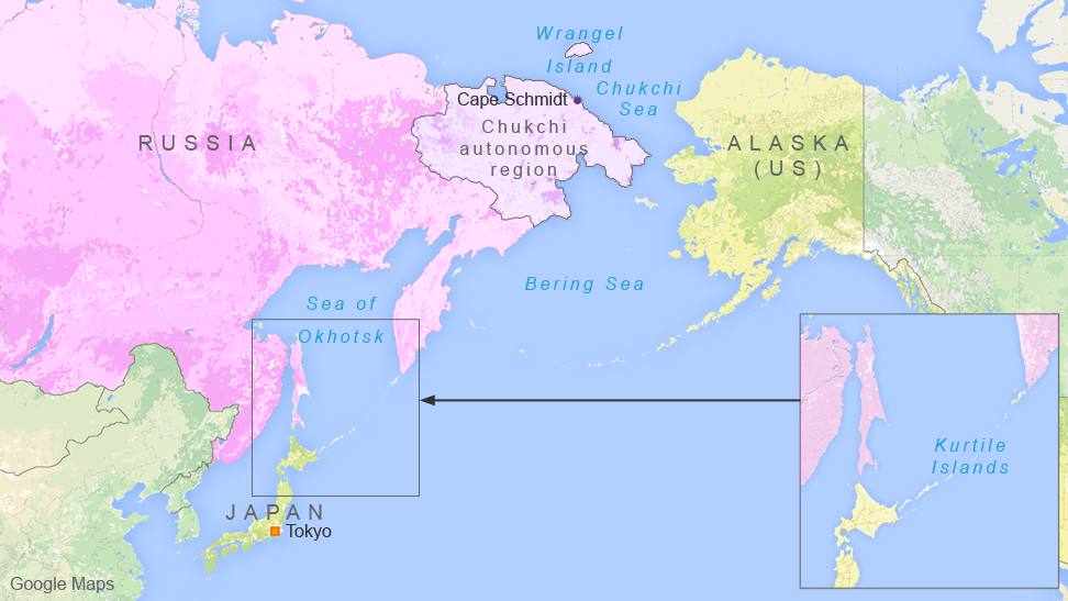 Russia plans to build military bases in the Kurtile Islands, Cape Schmidt, and Wrangel Island.
