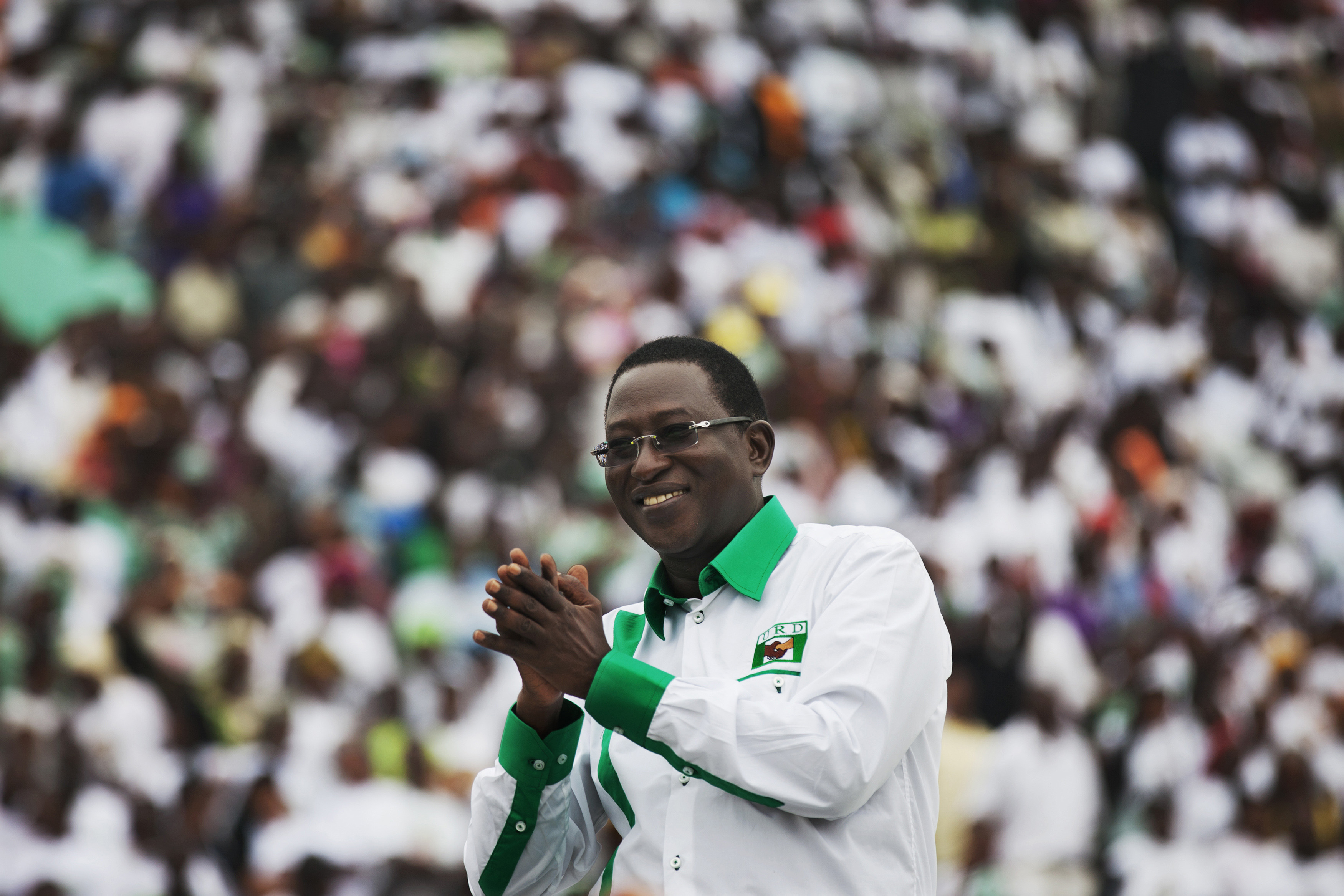 Presidential candidate Soumaila Cisse attends a campaign rally in Bamako, Mali, July 20, 2013.