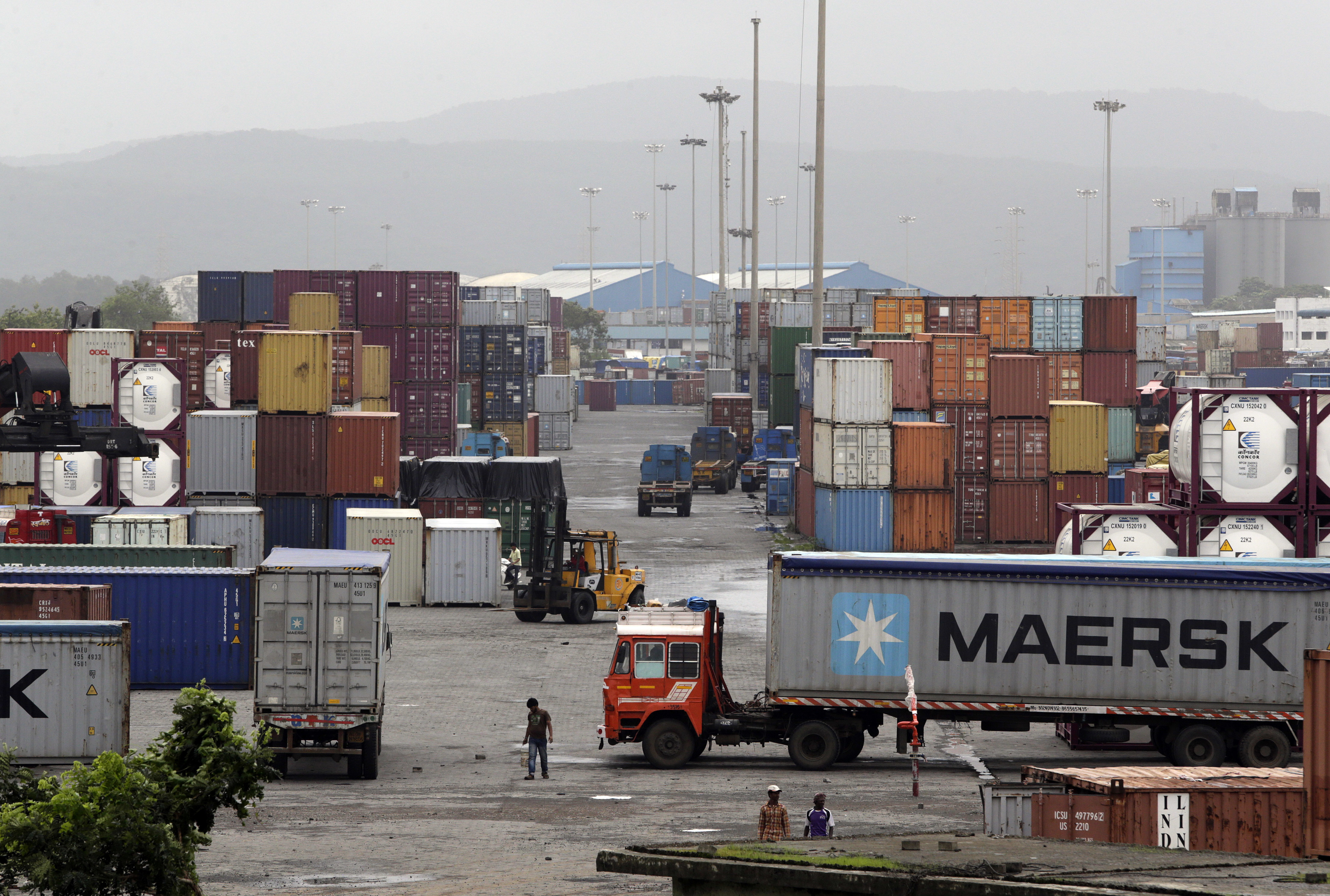 """One major victim, Danish shipping giant A.P. Maersk-Moller, said  that its cargo terminals and port operations were """"now running close to normal again."""""""