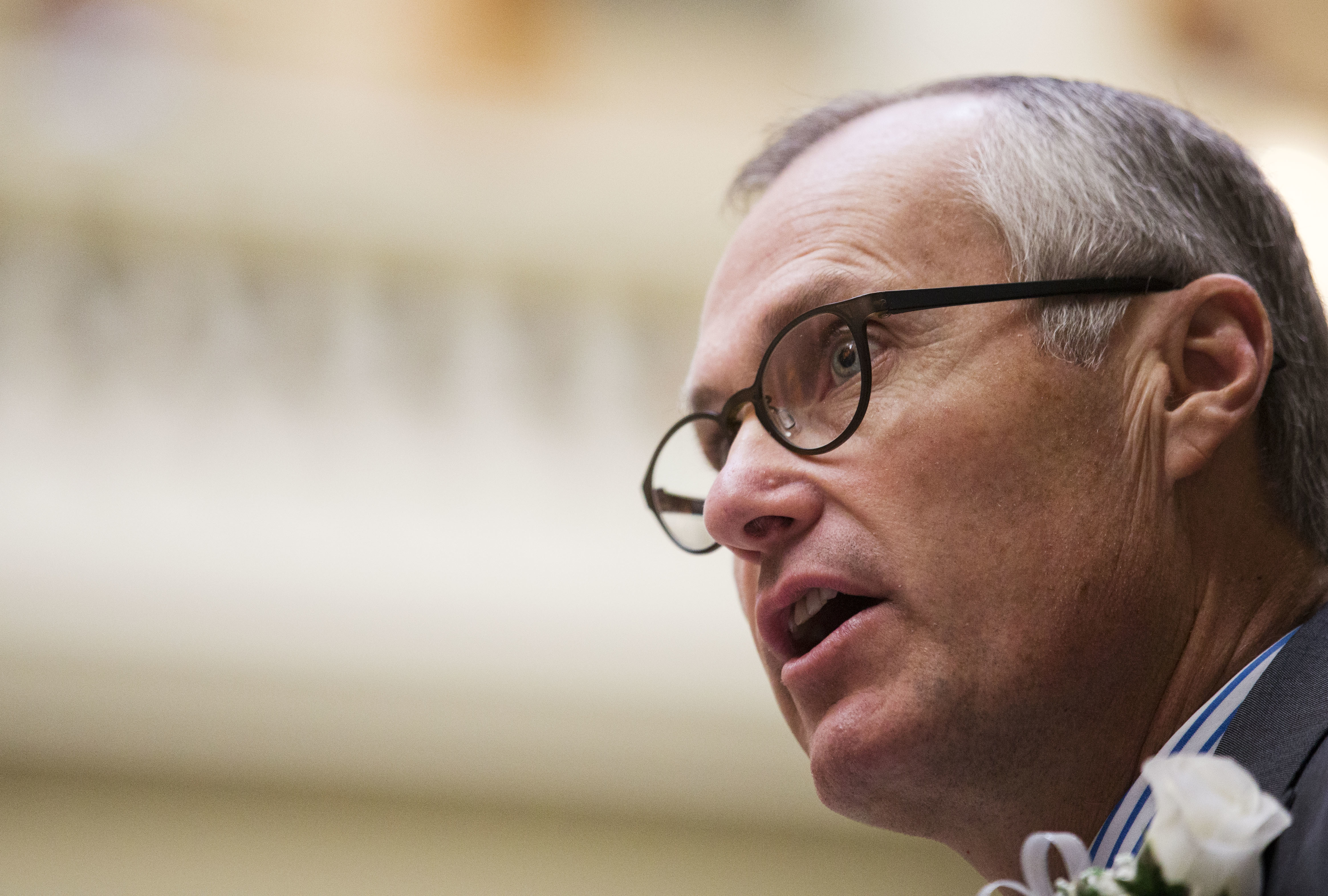 FILE - Georgia Lt. Gov. Casey Cagle speaks on the first day of the legislative session at the state Capitol in Atlanta, Jan. 11, 2016. Cagle on Monday threatened to prevent Delta Air Lines from getting a lucrative tax cut after the company ended its ...