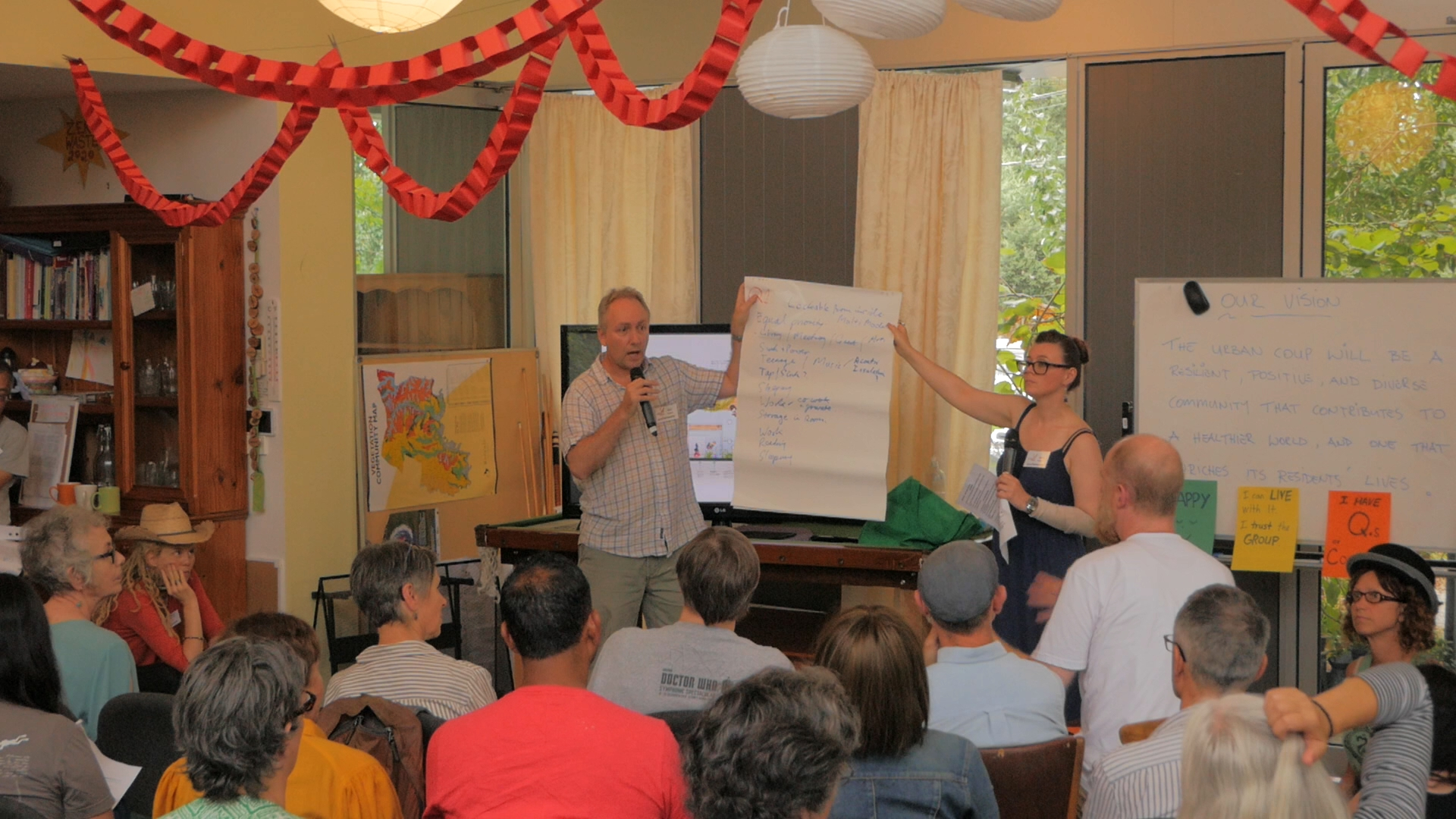 Members of Urban Coup attend a workshop to discuss the development of their co-housing project in Melbourne, Australia.