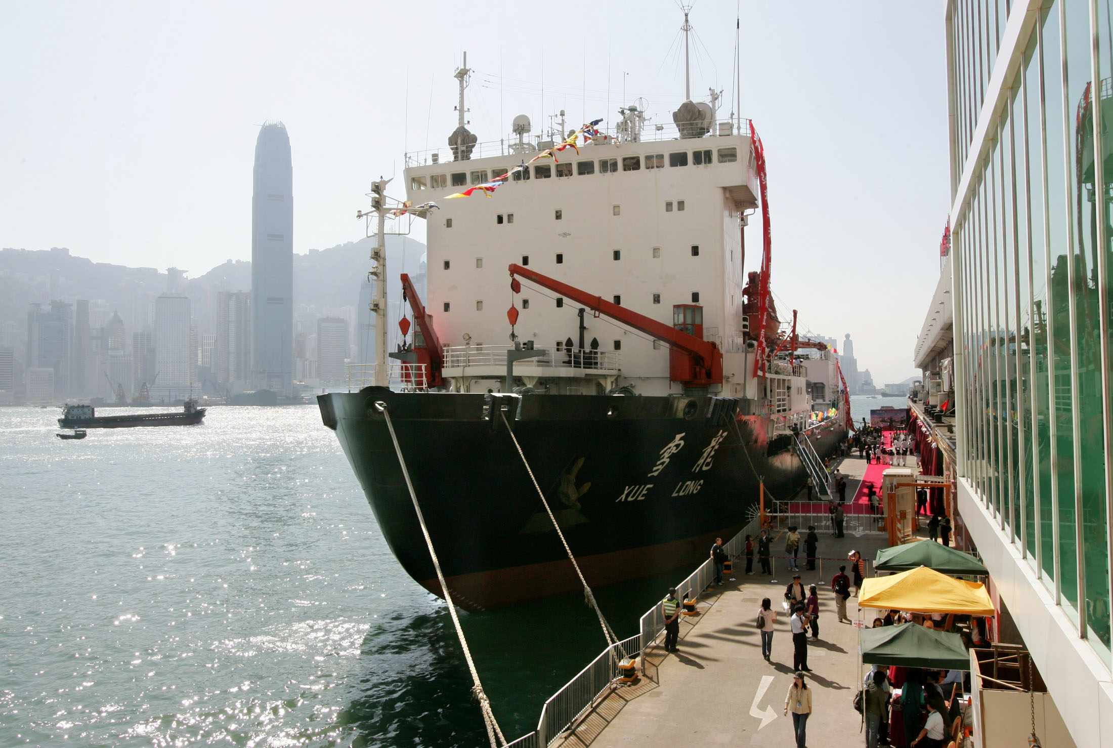 FILE - A Chinese icebreaker, the Xuelong, with 146 researchers aboard, docks at Hong Kong, Oct. 29, 2004.