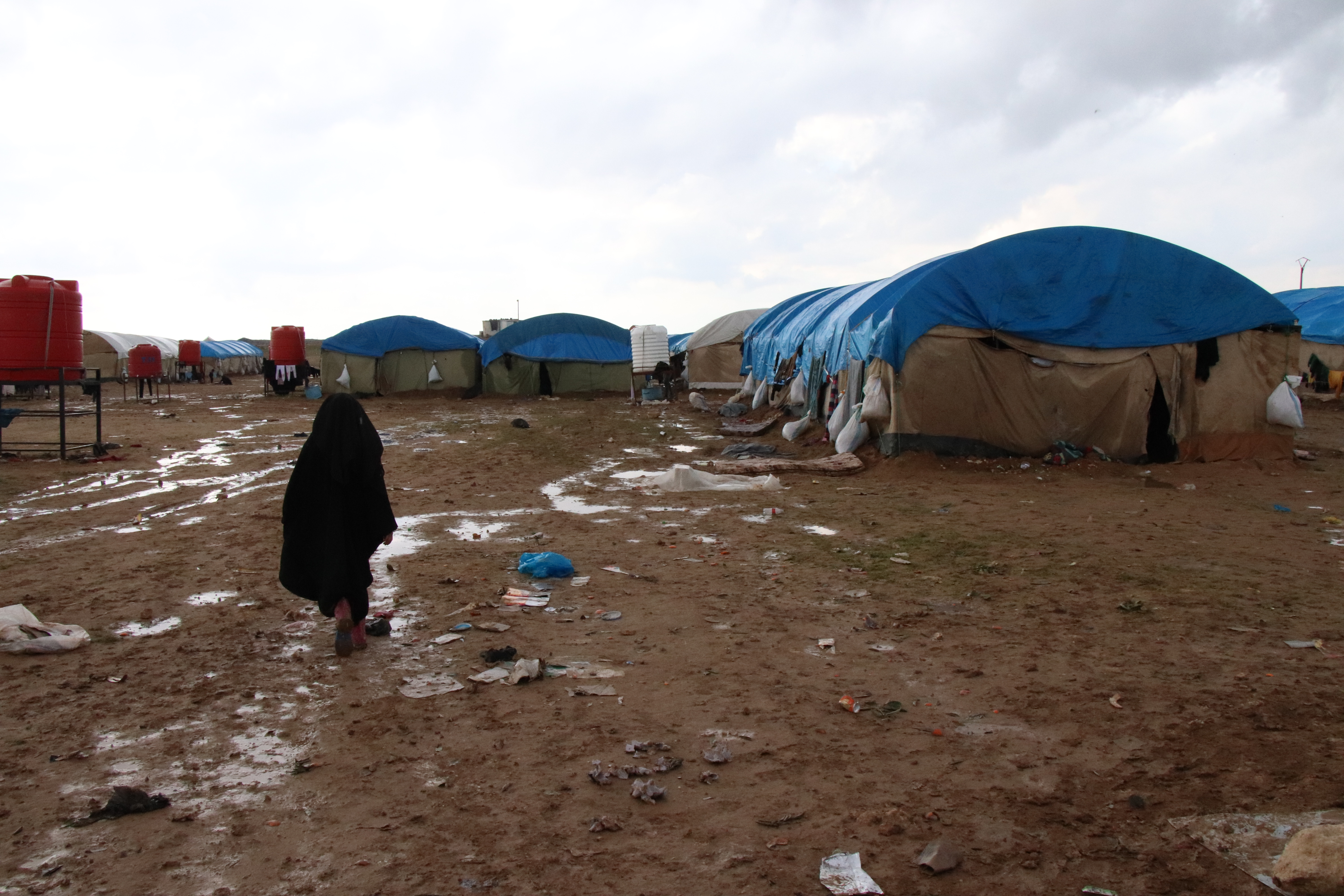 Aid organizations say the camp is overcrowded, and short of food, medical supplies and tents, al-Hol camp, Syria, March 4, 2019.
