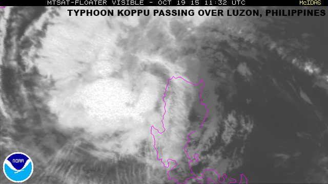 NOAA image of Typhoon Koppu, Oct. 19, 2015
