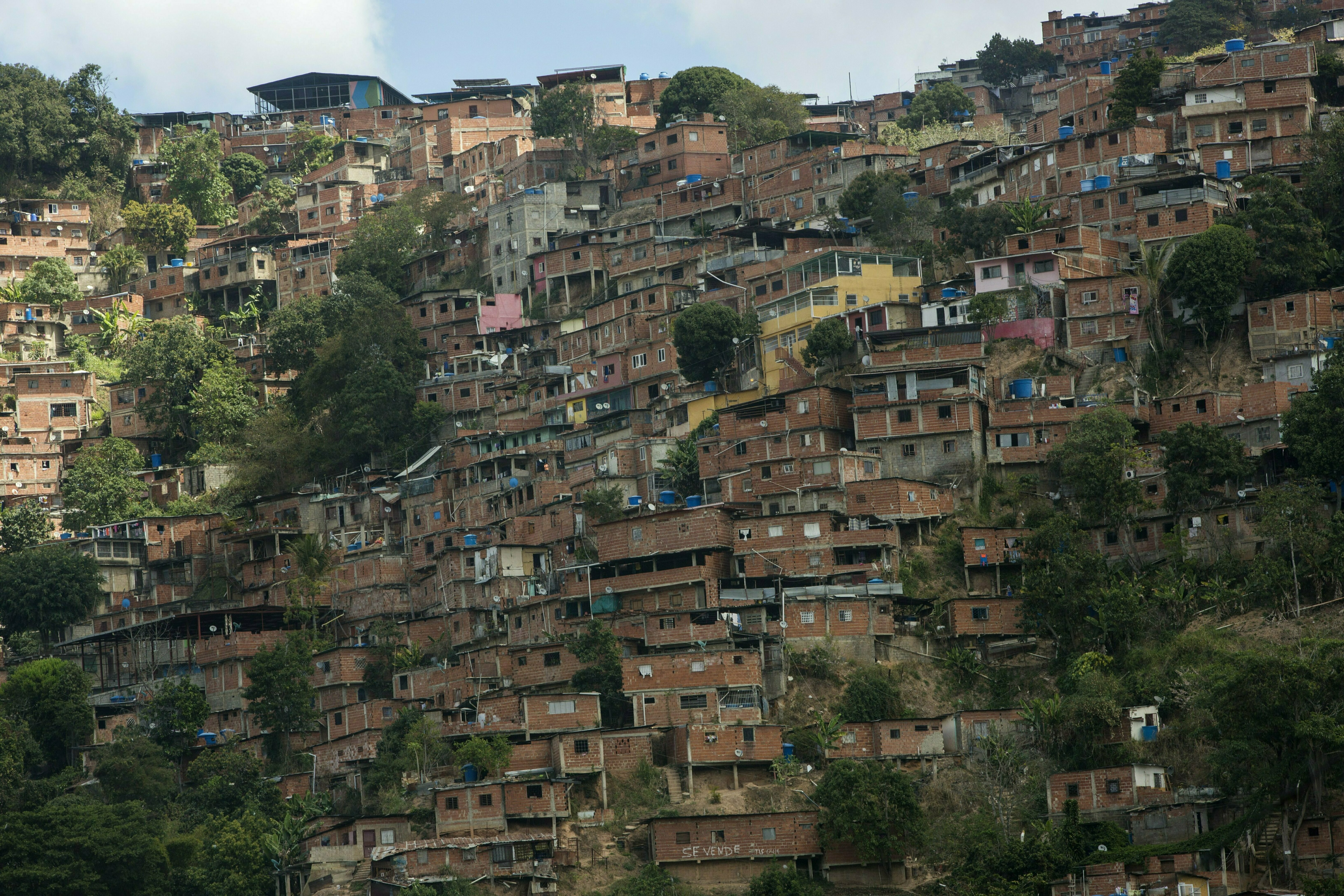 A portion of the Petare shanty town, one of Latin America's largest slums, is seen in Caracas, Venezuela, Feb. 14, 2019.