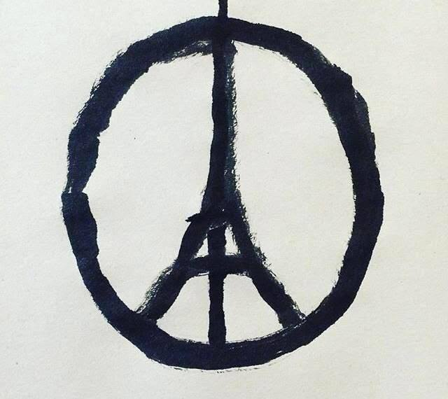 An image fusing the peace sign and Eiffel Tower is circulated on Facebook by the California-based community group Lean In, in the wake of Islamic State terrorist attacks on Paris, Nov. 13, 2015..