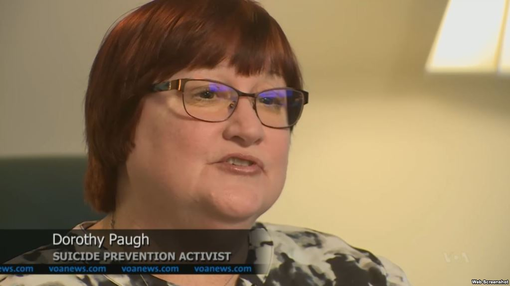 Dorothy Paugh, a suicide prevention advocate, lost her father and her son to suicide.