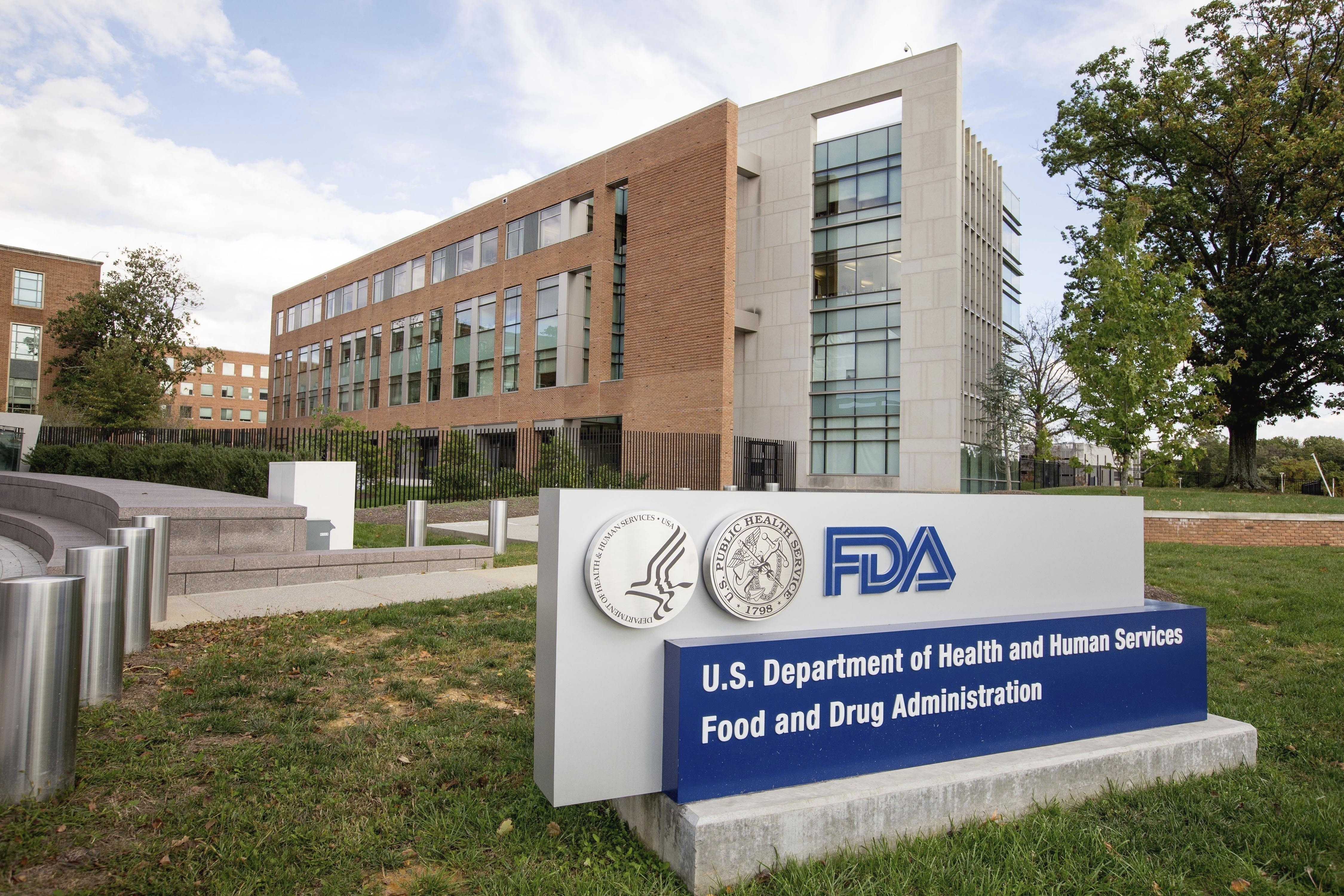 FILE - This Oct. 14, 2015, file photo shows the Food and Drug Administration campus in Silver Spring, Maryland.