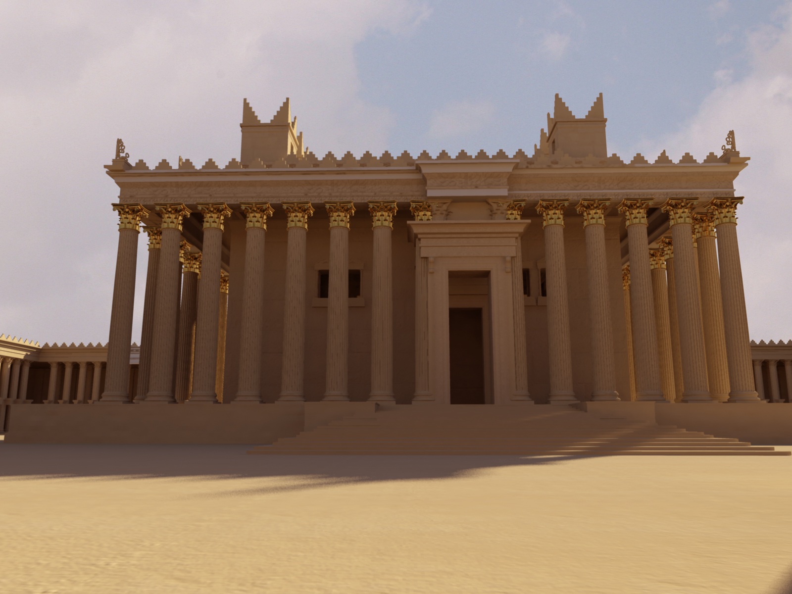 One of the original renderings of the 3D model of Temple Bell, in Palmyra, made from Bassel Khartabil photographs. (Bassel, New Palmyra.org)