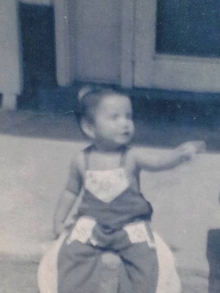 Photo of Conrad Eagle Feather, Sincangu Lakota, about age two, taken before he was removed from the family and adopted by a non-Native American family in neighboring Nebraska.  Courtesy, Conrad Eagle Feather.