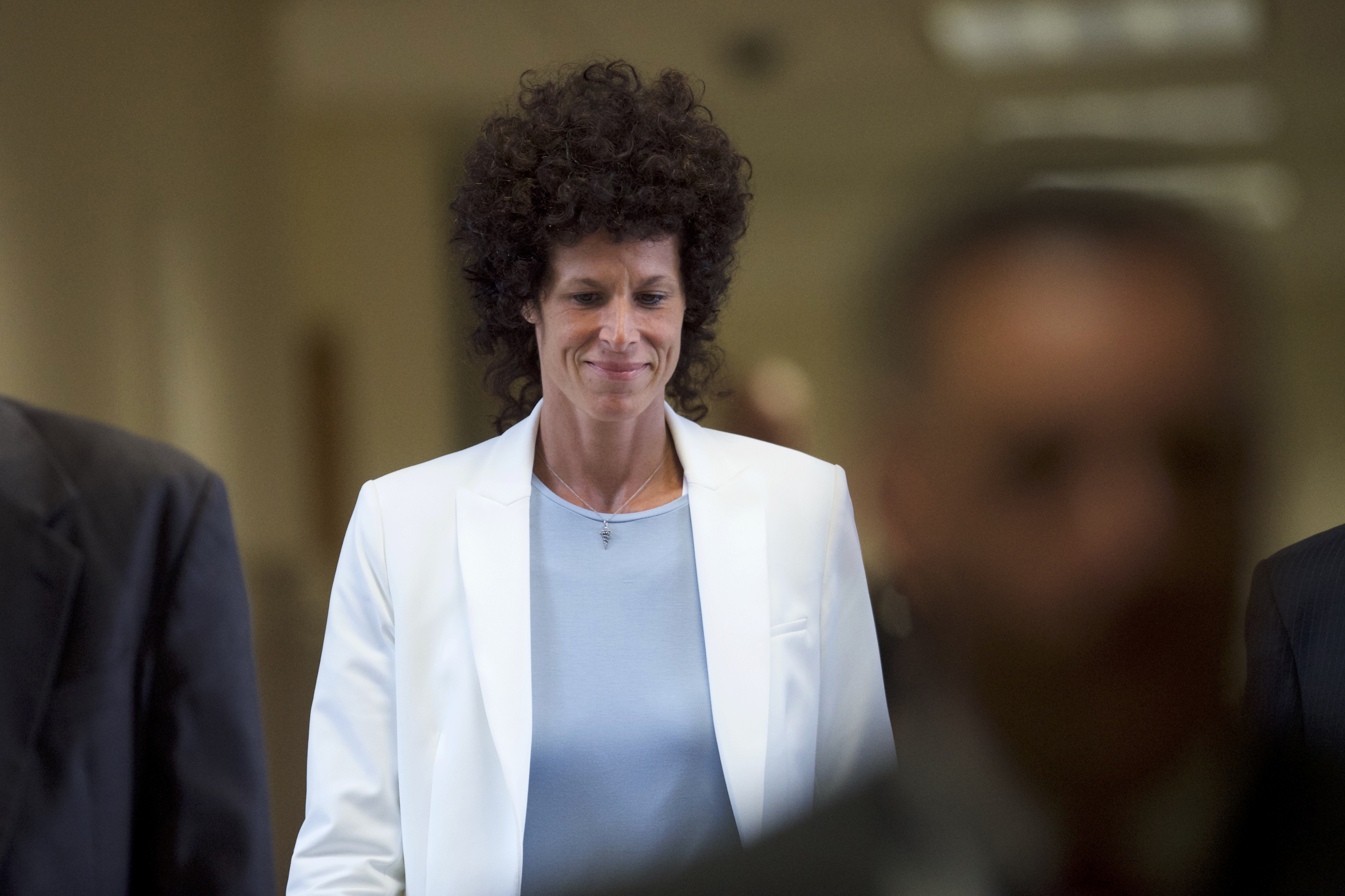 Andrea Constand arrives during Bill Cosby's sexual assault trial at the Montgomery County Courthouse in Norristown, Pennsylvania, June 7, 2017.
