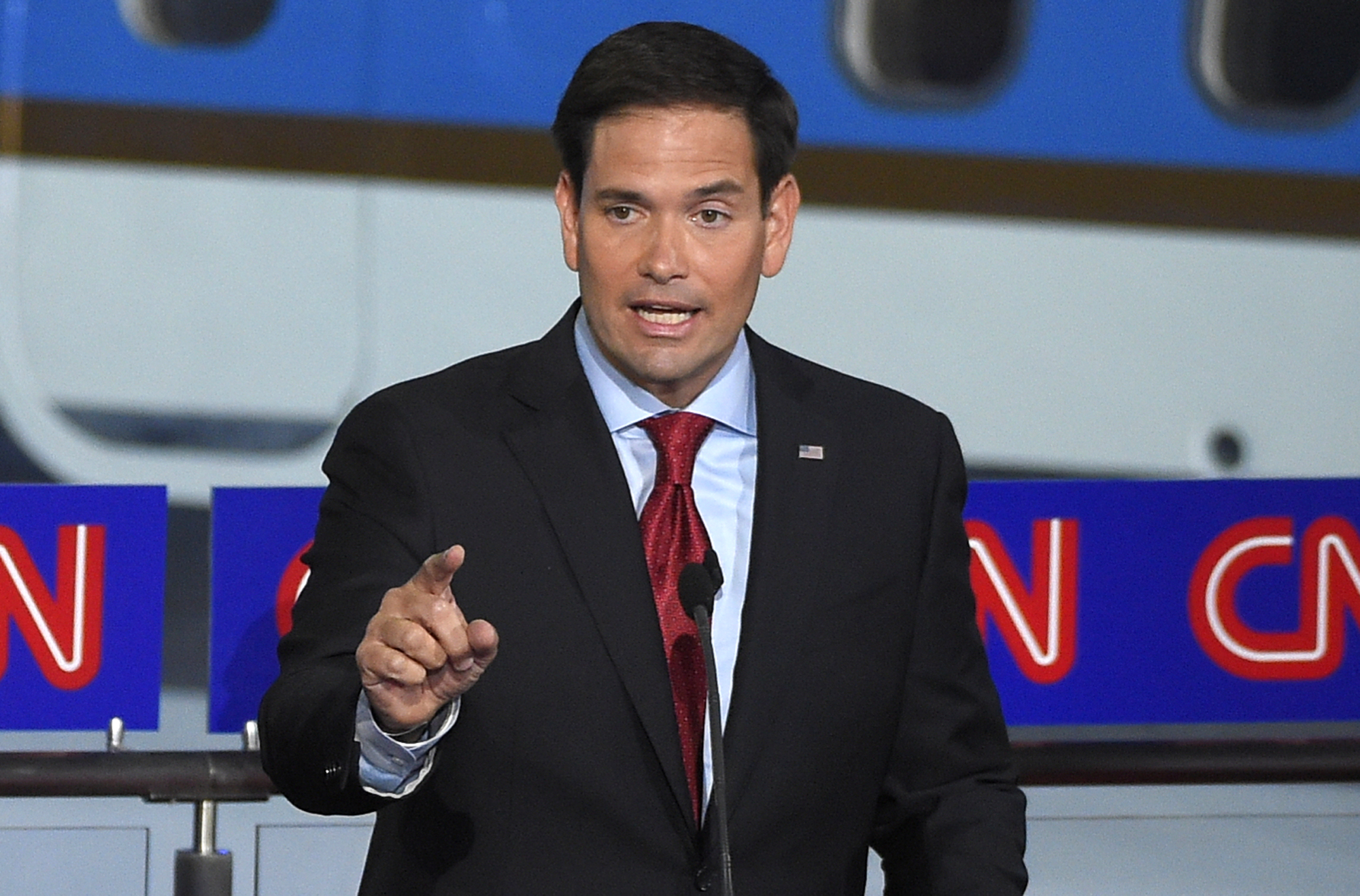 Republican presidential candidate, Sen. Marco Rubio, R-Fla., speaks during the CNN Republican presidential debate at the Ronald Reagan Presidential Library and Museum on Wednesday, Sept. 16, 2015.