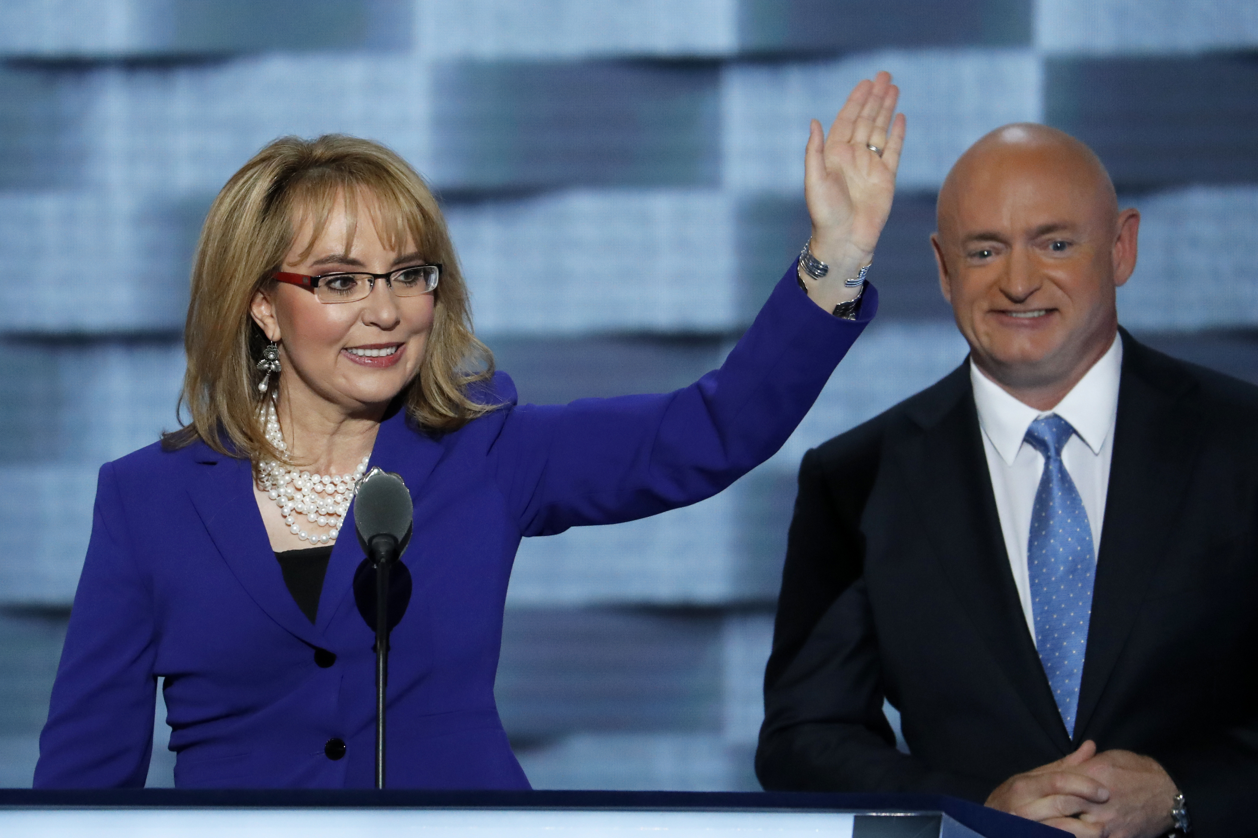 Former Rep. Gabby Giffords, D-Ariz., and her husband Astronaut Mark Kelly
