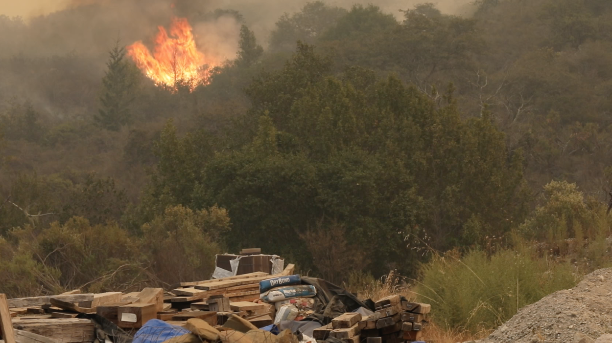 Wildfires continue to spread in Sonoma County,  Calif., Oct. 12, 2017. Twenty-two fires were burning in Northern California, with firefighters partially containing just one.