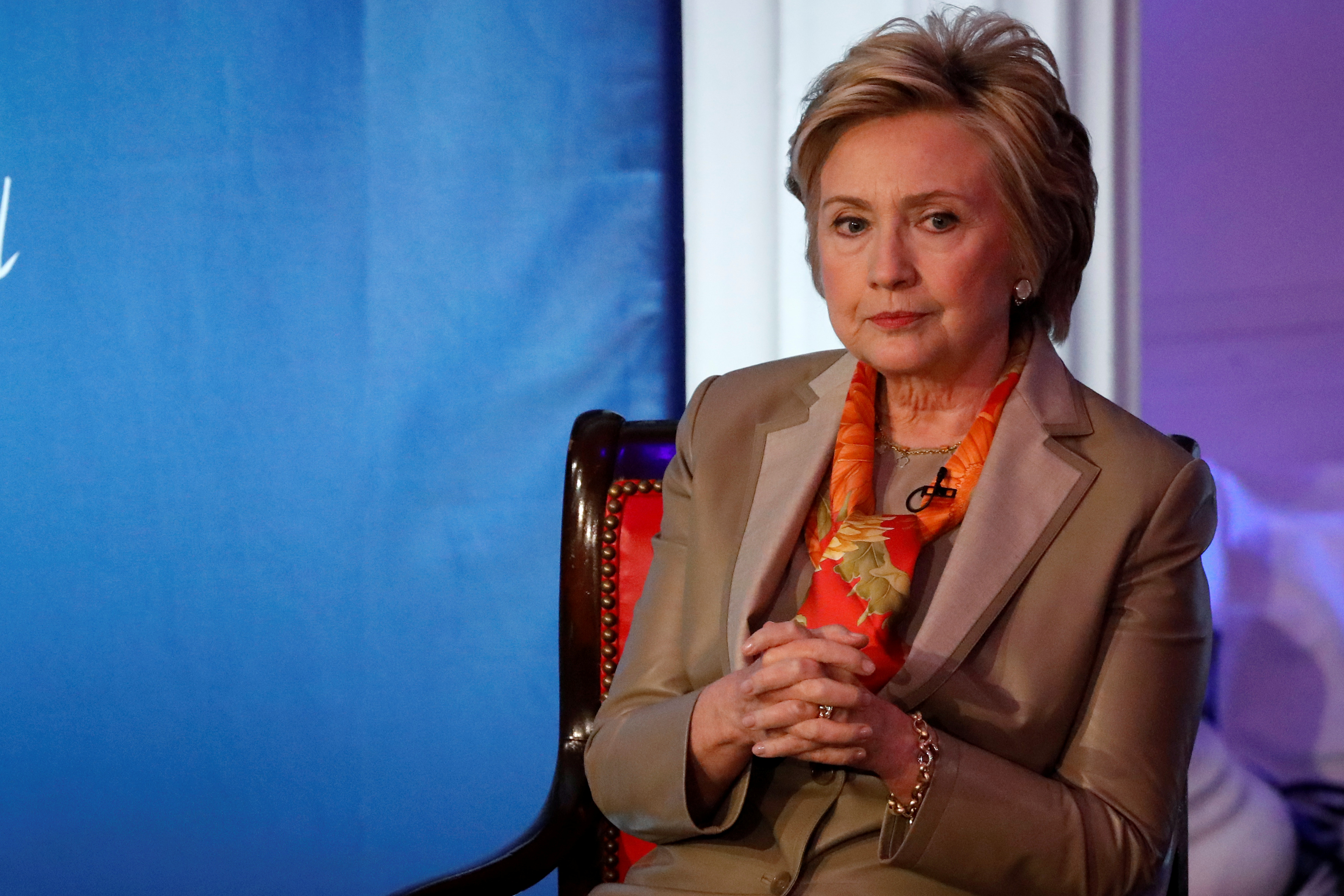 Former U.S. Secretary of State Hillary Clinton takes part in the Women for Women International Luncheon in New York City, New York, May 2, 2017.