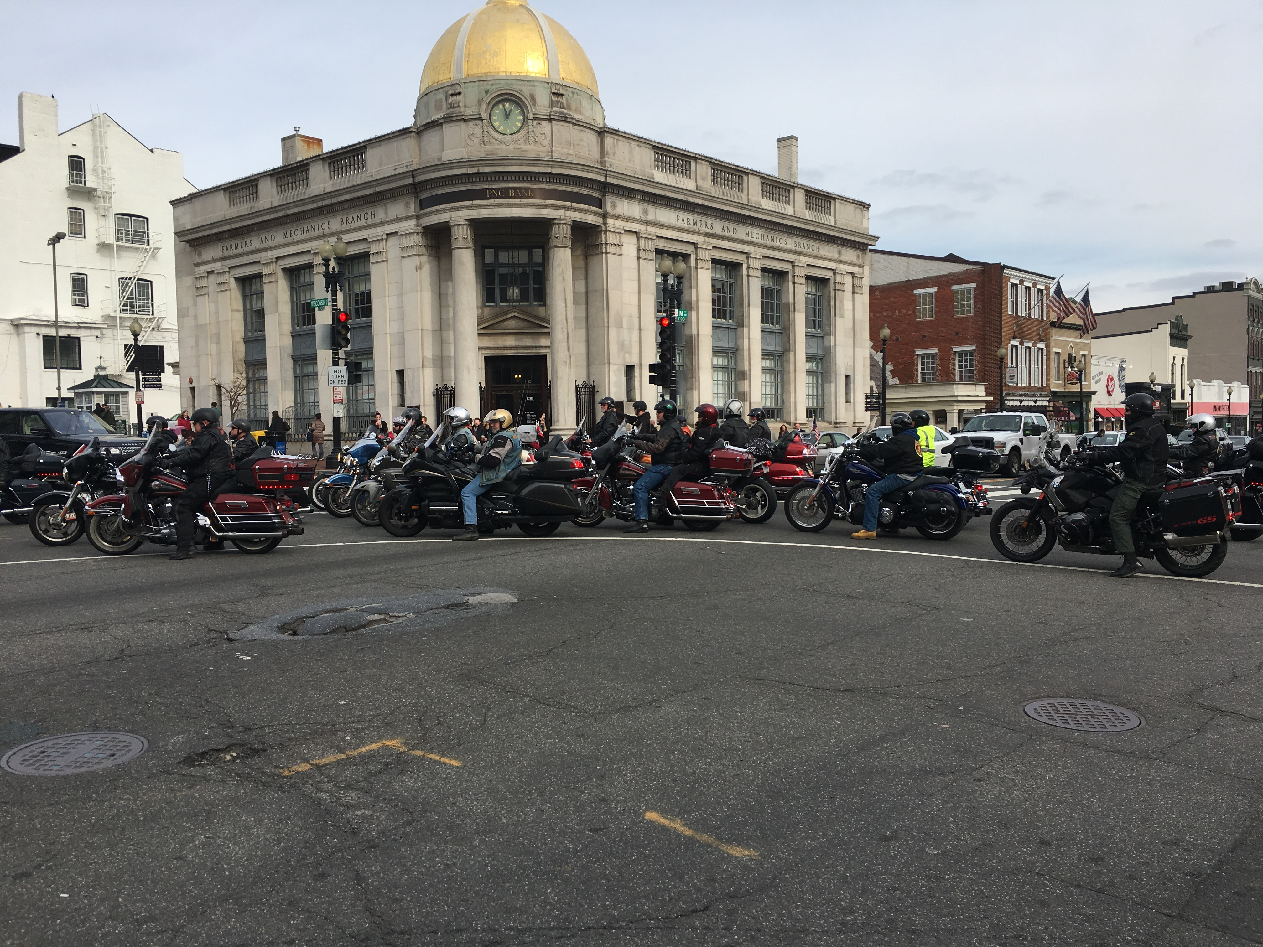 """Founder Chris Cox says Bikers for Trump """"started as a result of the outspoken nature of Donald Trump and the bikers' frustration with the direction this country was going,"""" Jan. 19, 2017. (J. Fatzick/VOA)"""
