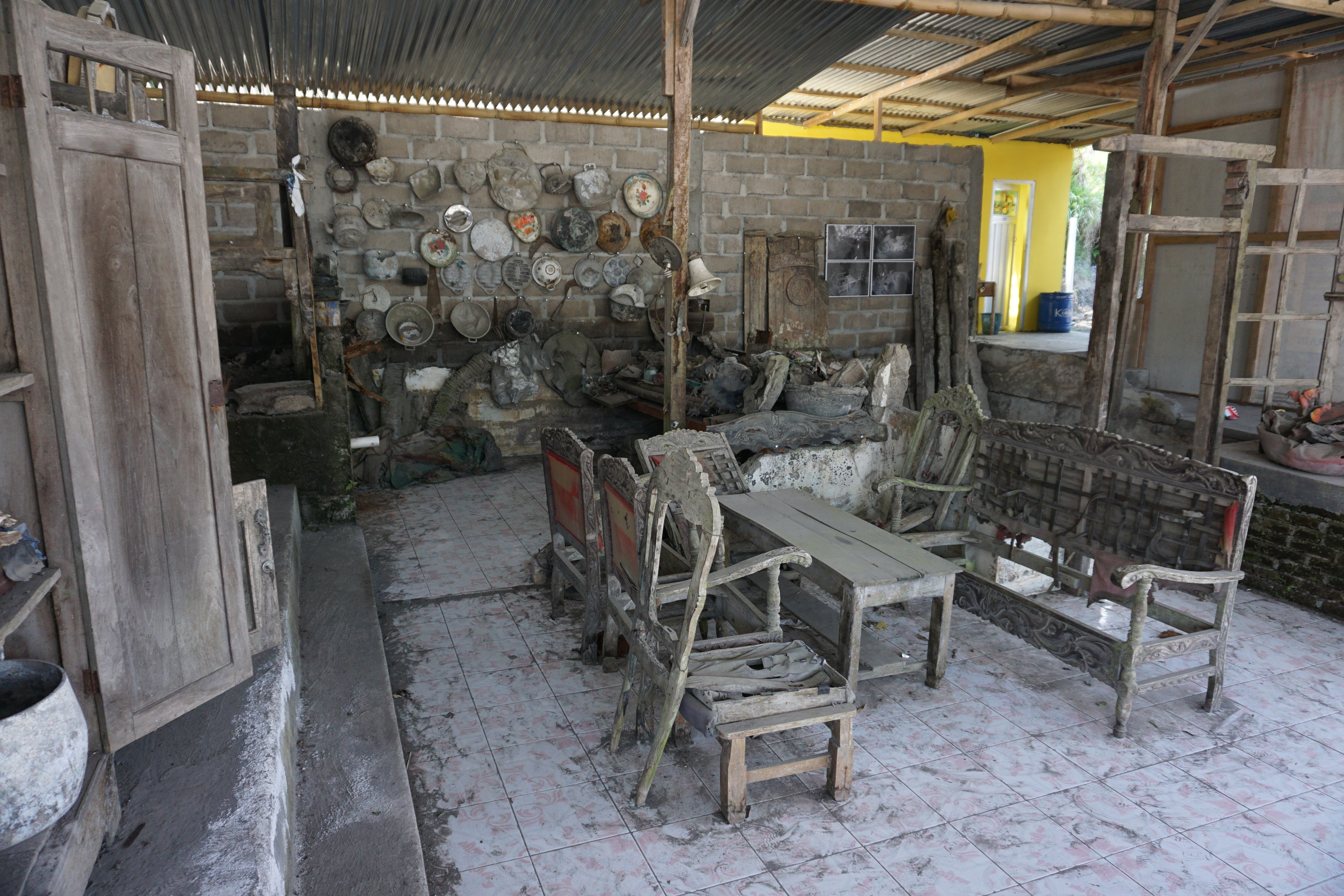 The remains of Mbah Maridjan's house, which was destroyed in the 2010 eruption of Mount Merapi. (K. Varagur for VOA)