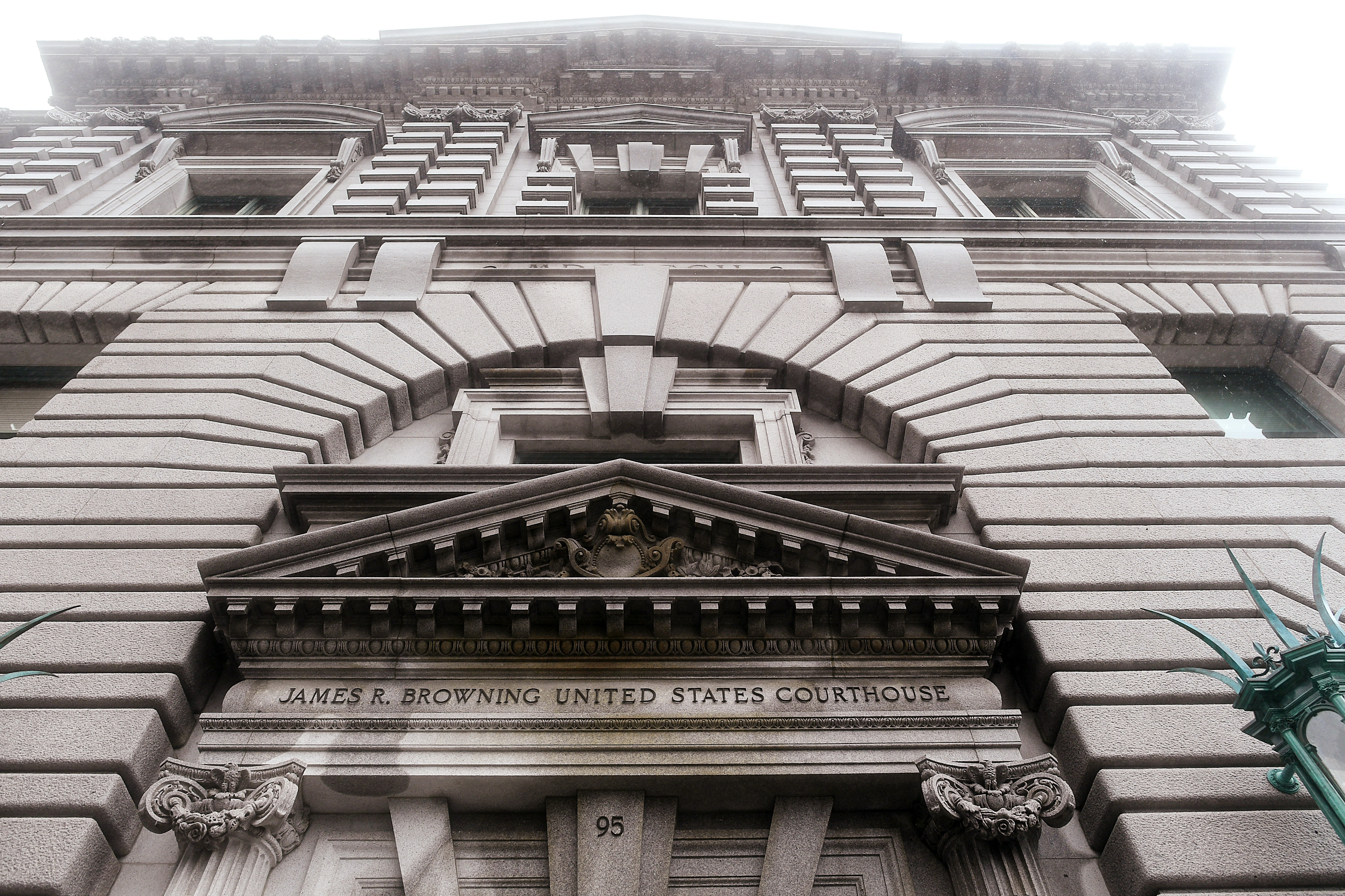 FILE - The James R. Browning U.S. Court of Appeals Building, home of the 9th U.S. Circuit Court of Appeals, is pictured in San Francisco, California, Feb. 7, 2017.