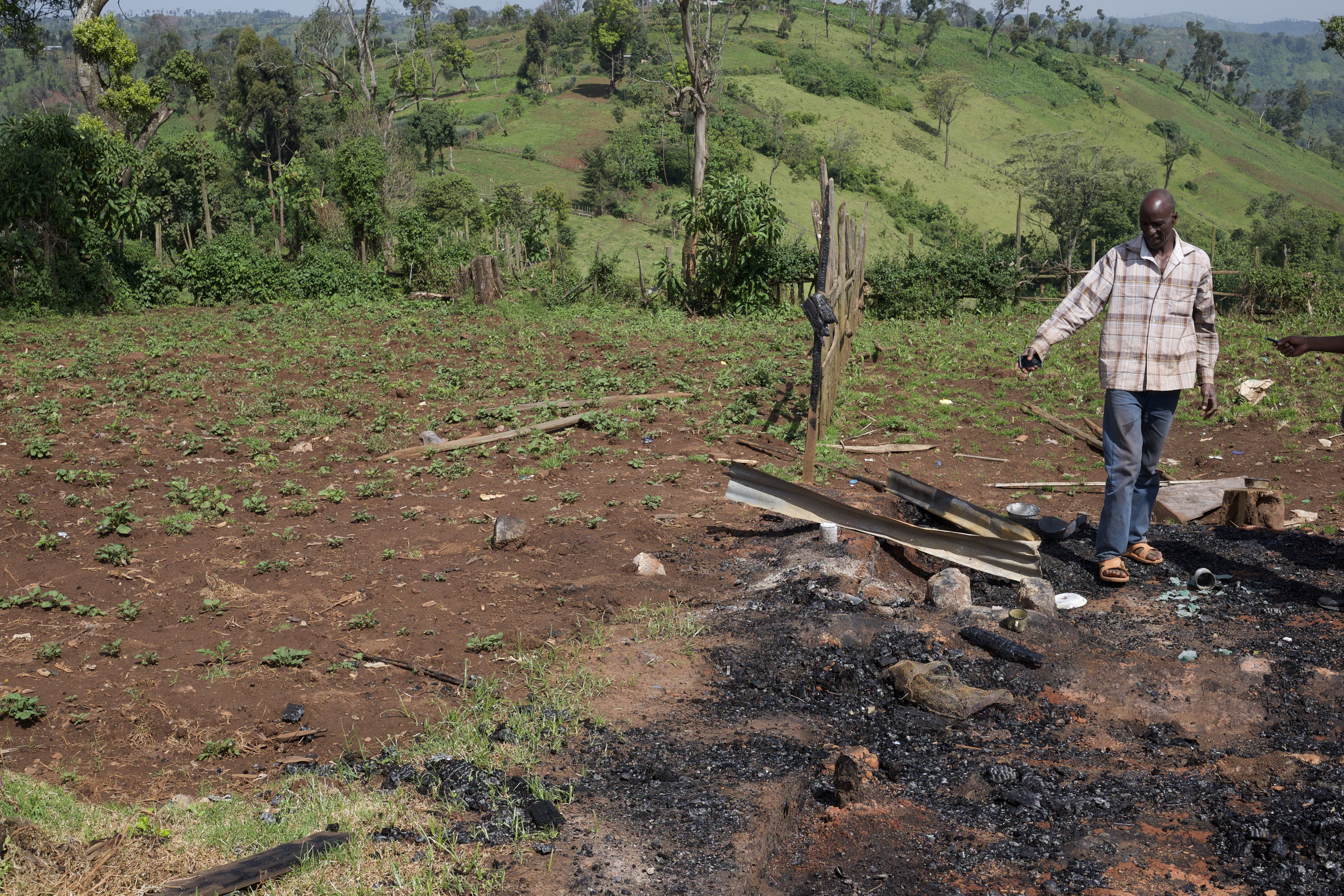 Simon Towett lived in the Maasai Mau Forest for 30 years, but when police arrived, they burned down his house and evicted him from the forest.