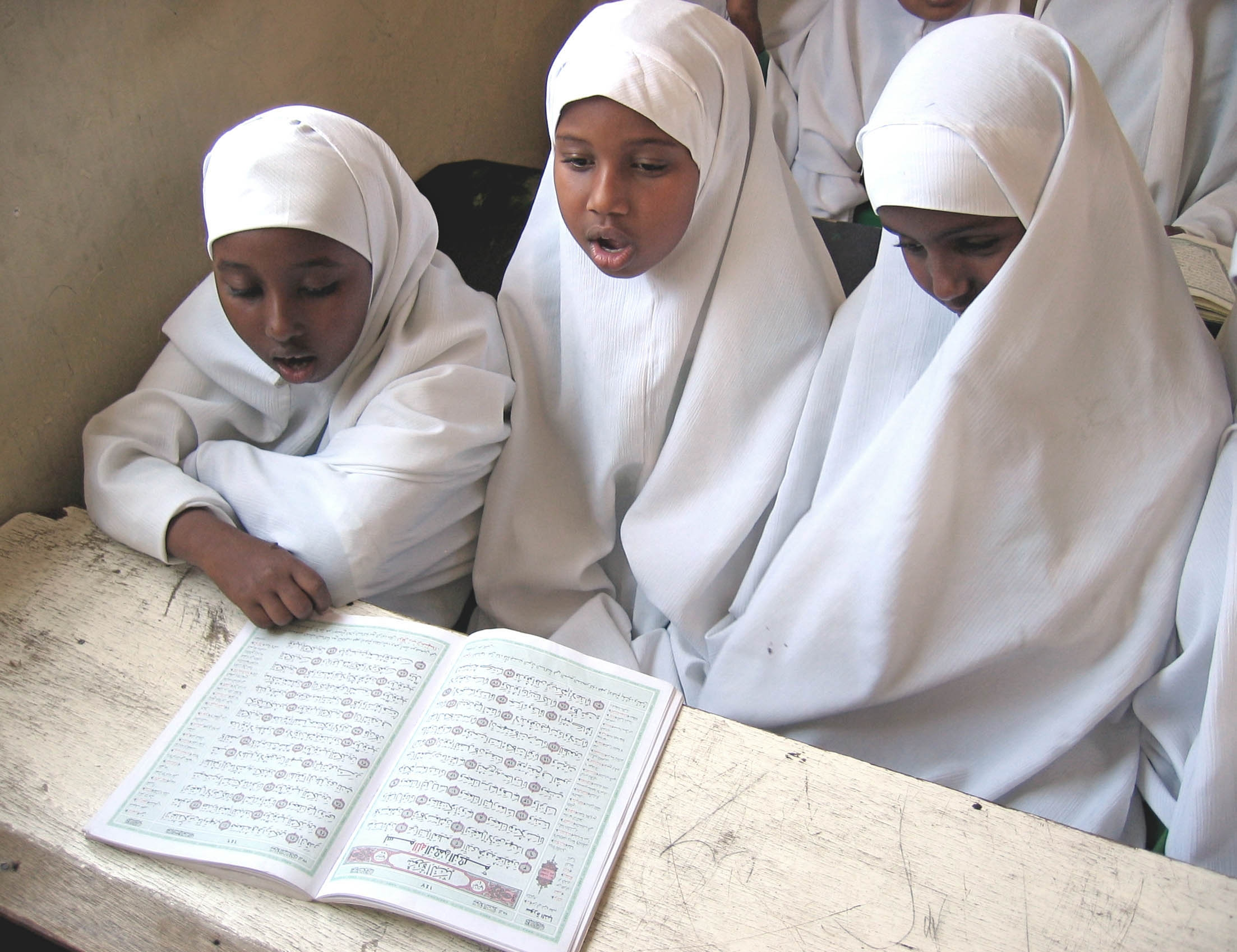 FILE - Students read the Koran during class at a primary school in Hargeisa, Somaliland, Sept. 25, 2006.