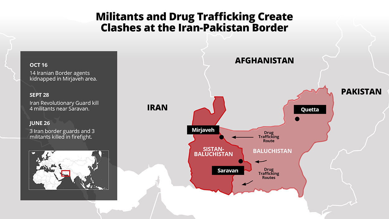 Militants and drug trafficking create clashes at the Iran-Pakistan border