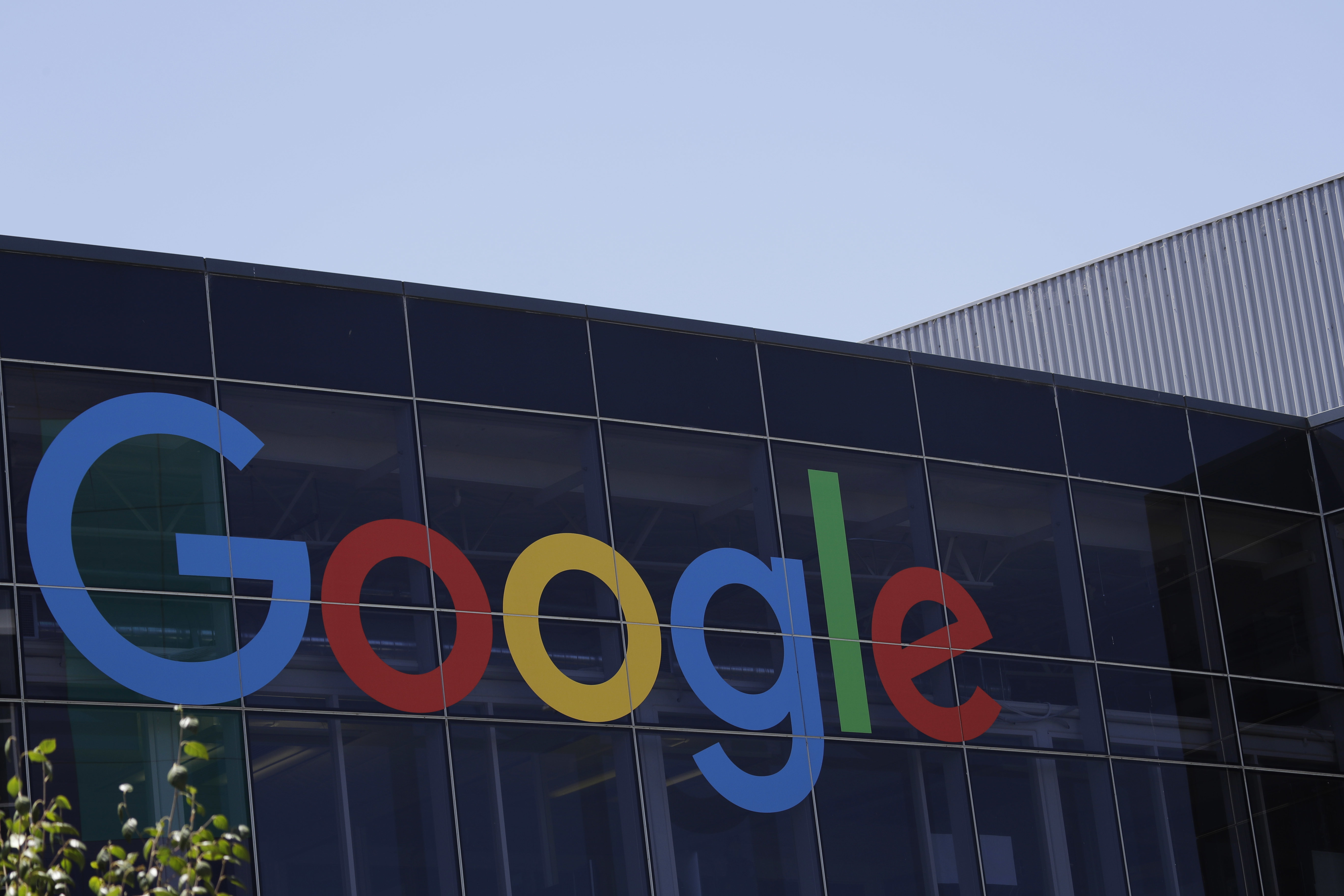 FILE - This July 19, 2016, file photo shows the Google logo at the company's headquarters in Mountain View, Calif.