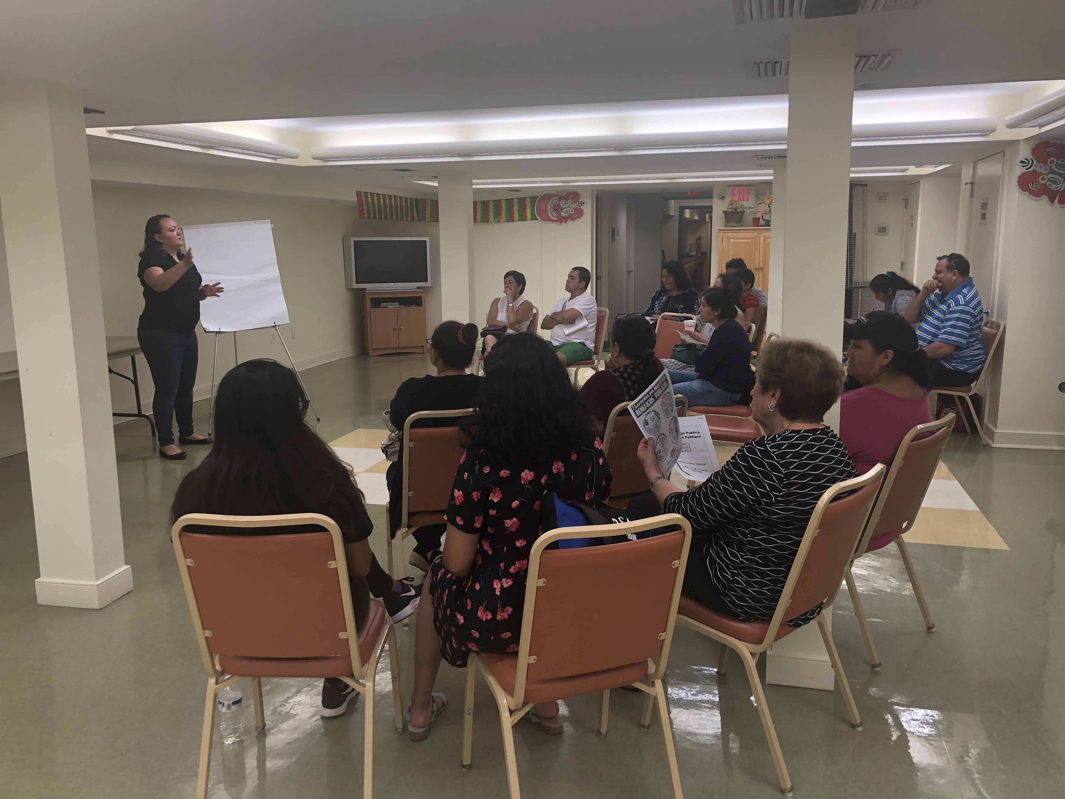CASA de Maryland officials host a public charge information workshop in Falls Church, Virginia, Oct. 4, 2018. The aim of the meeting was to explain how the expanded Public Charge Rule could make it harder for legal immigrants to get green cards if th...