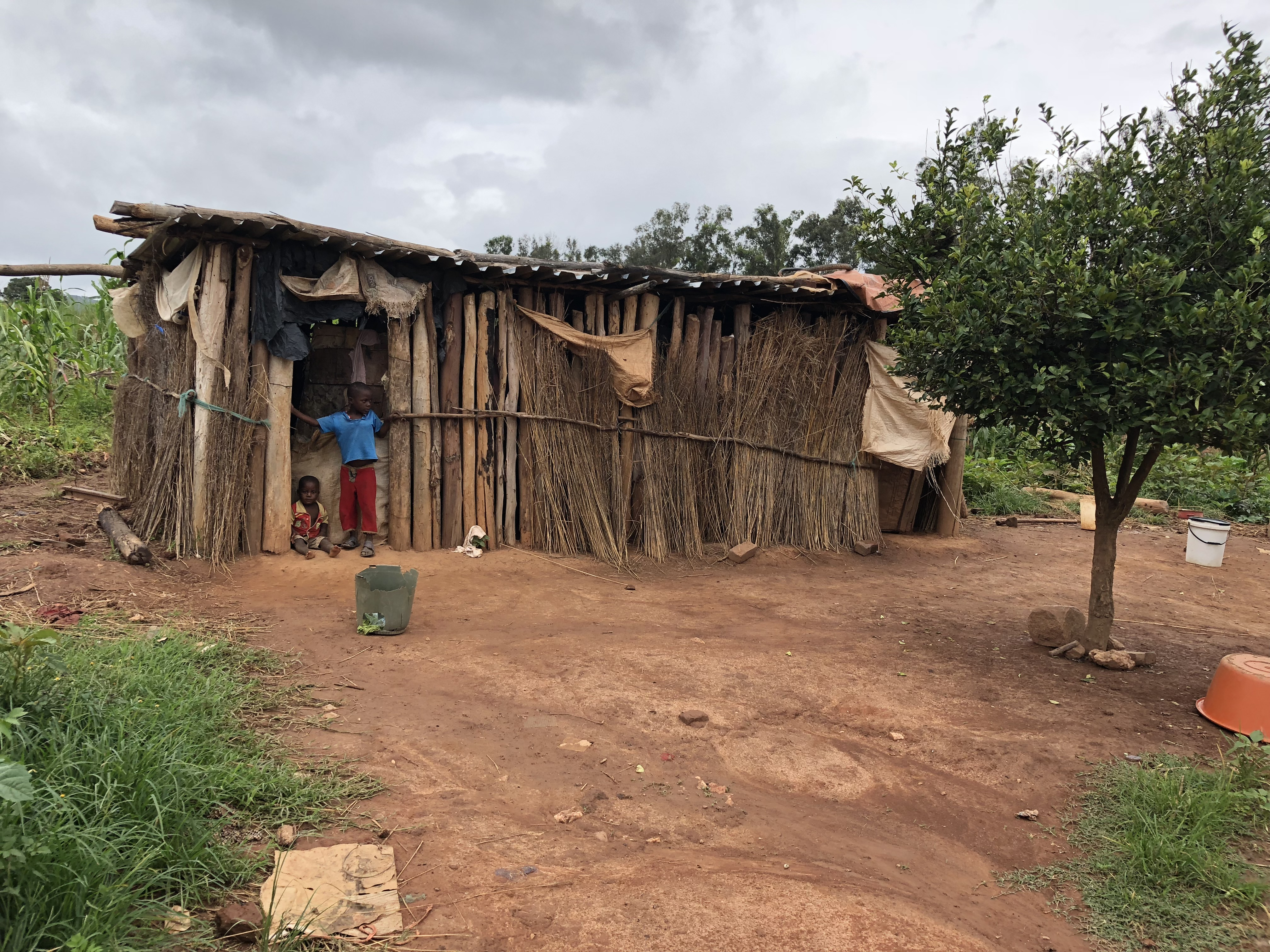 "Common types of ""homes"" are seen at Manzou farm in Mazowe district, Zimbabwe, March 2, 2018, after the government destroyed the original dwellings to make way for former first lady Grace Mugabe's game park in 2015. (S. Mhofu/VOA)"