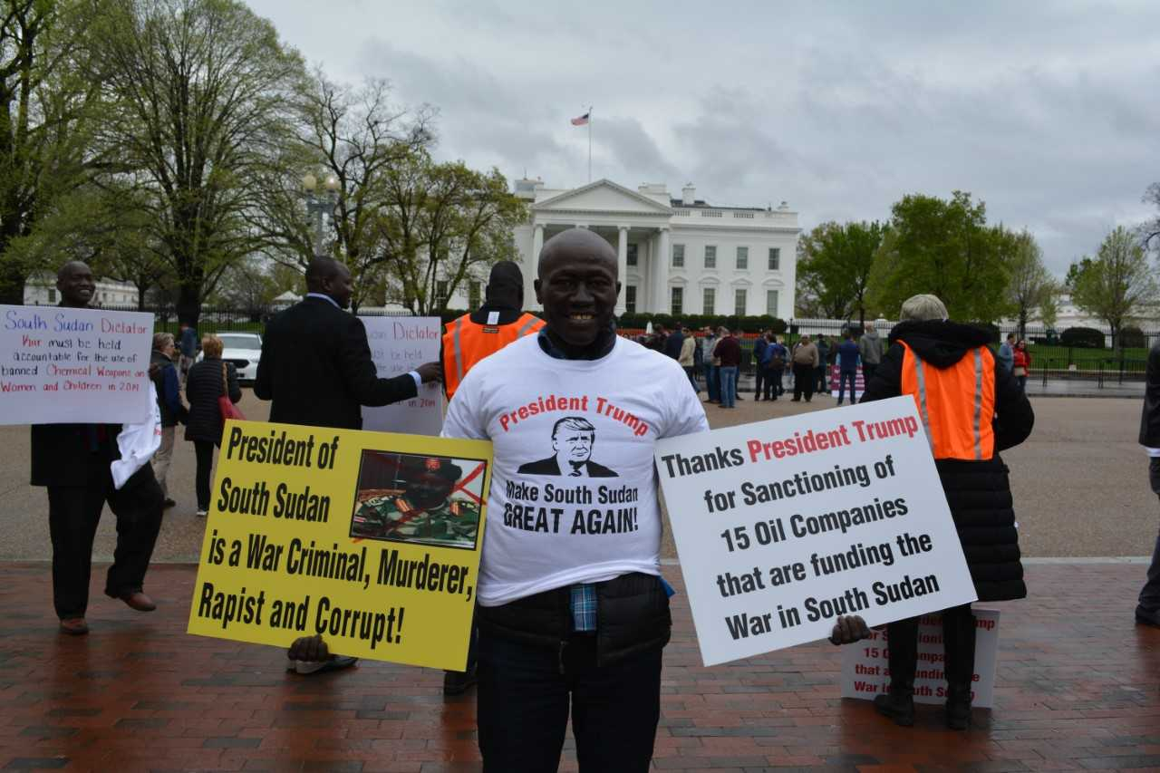 South Sudan Protesters Gather in Washington to Denounce ...