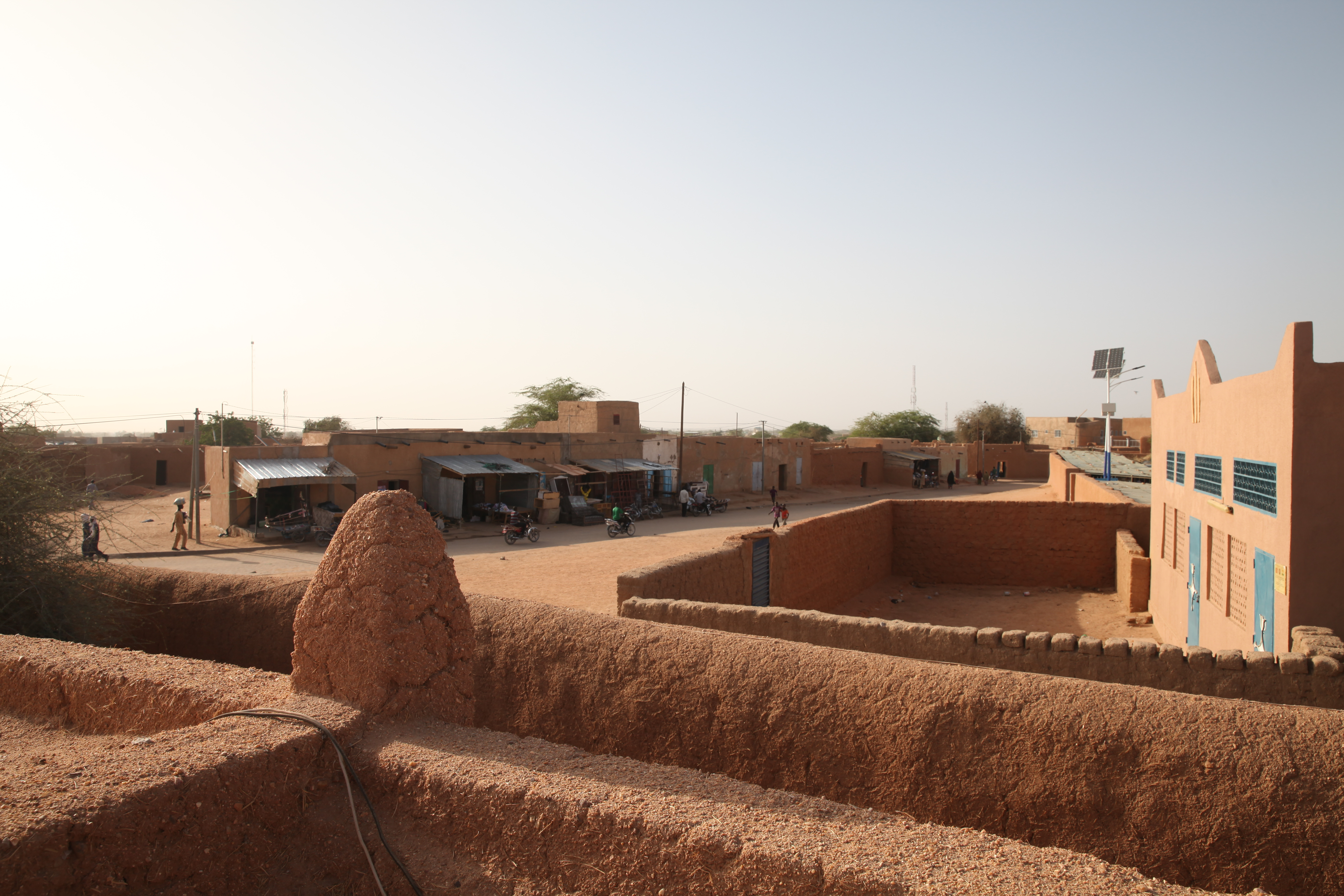 A view of downtown Agadez photographed from the grand mosque, Agadez, Niger, Feb. 20, 2018.