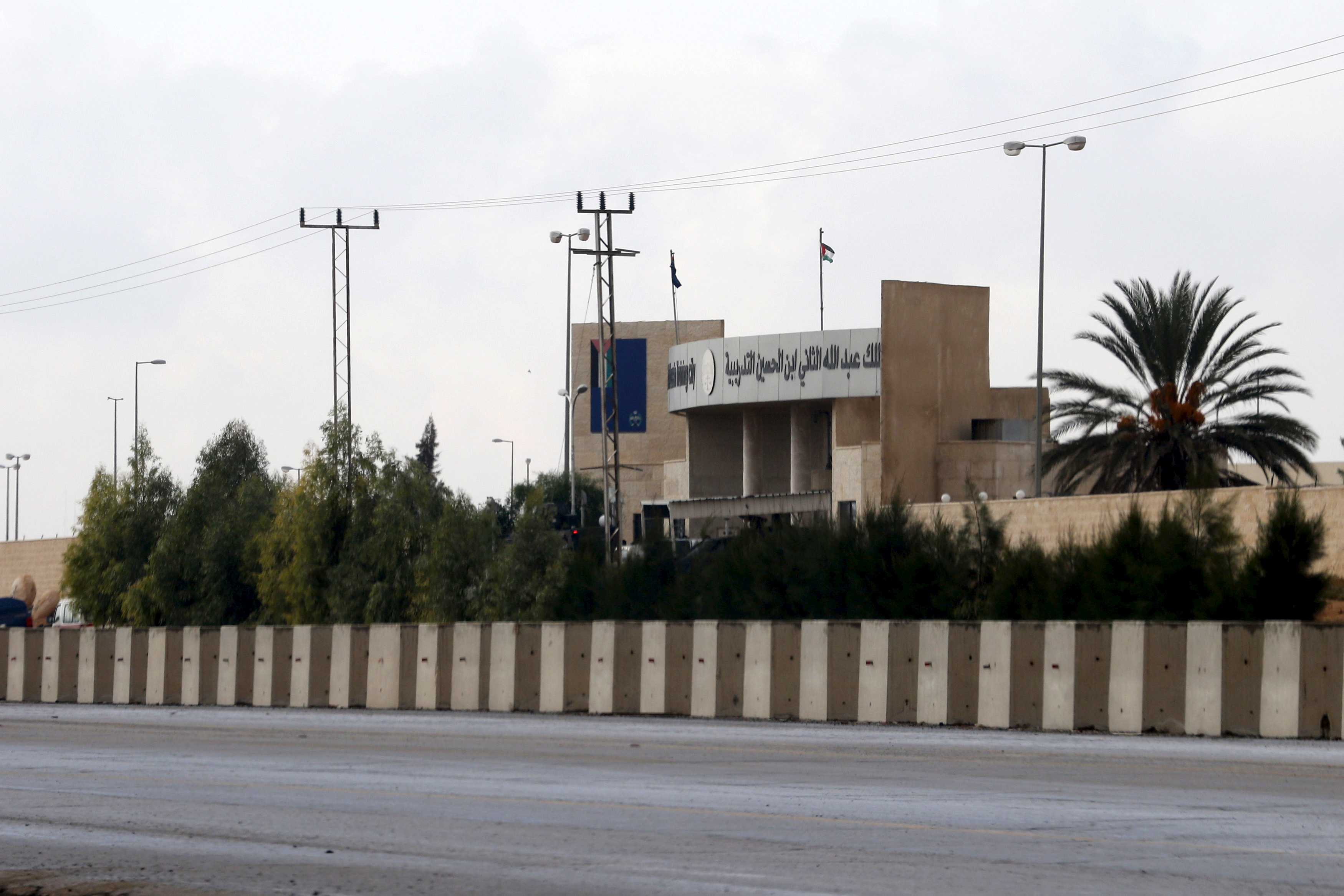 The United States funds security training at King Abdullah bin Al Hussein Training Center near Amman, Jordan. A Jordanian officer opened fire, killing two American military personnel and a South African, Nov. 9, 2015.