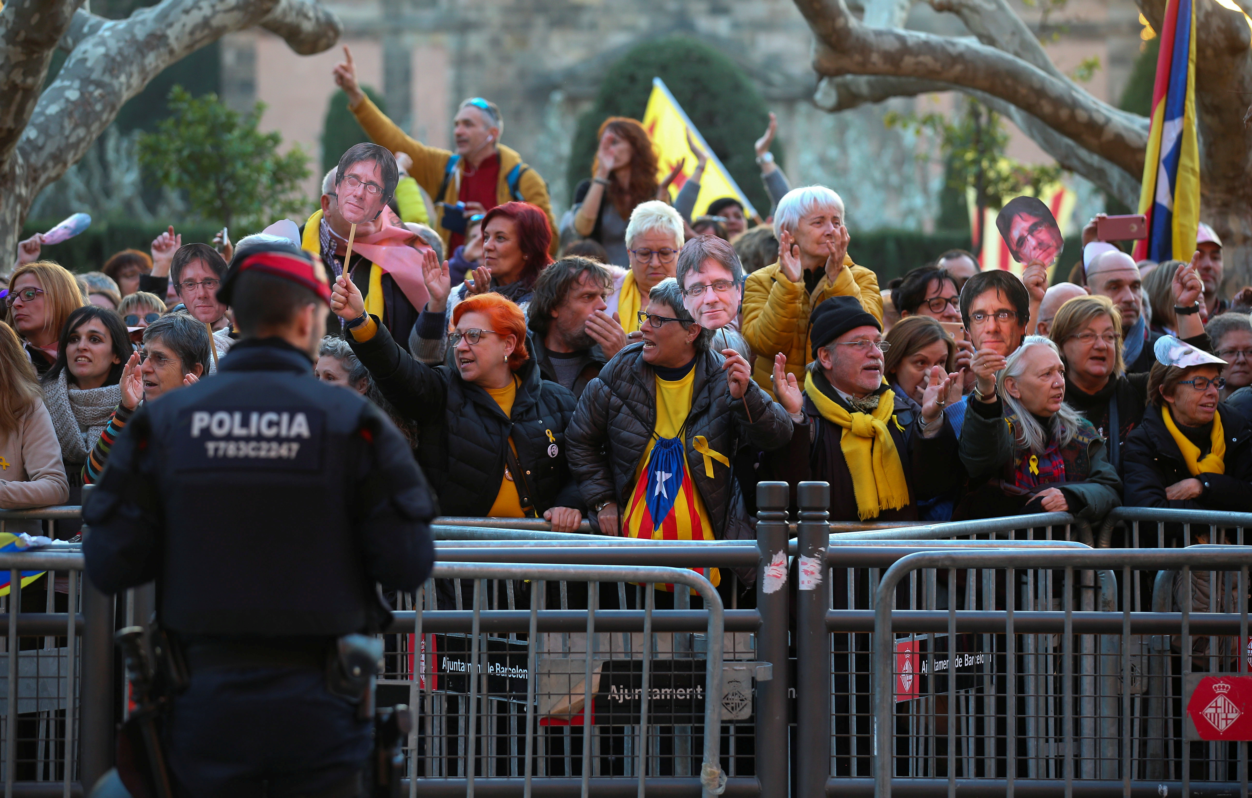Spain protests 20180130