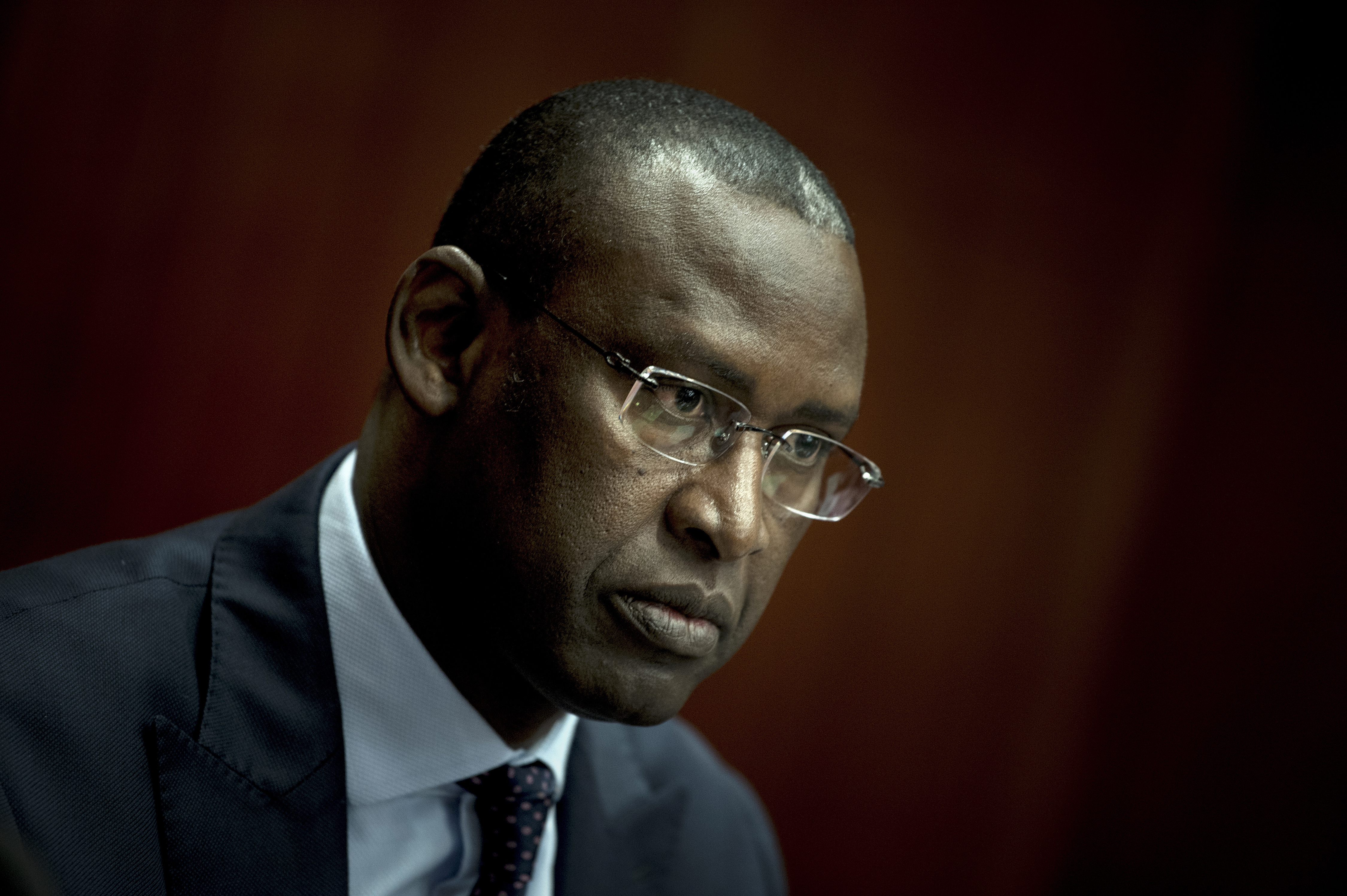 Mali's Foreign Minister Abdoulaye Diop waits to speak during an event at the Center for Strategic and International Studies Nov. 1, 2017, in Washington.