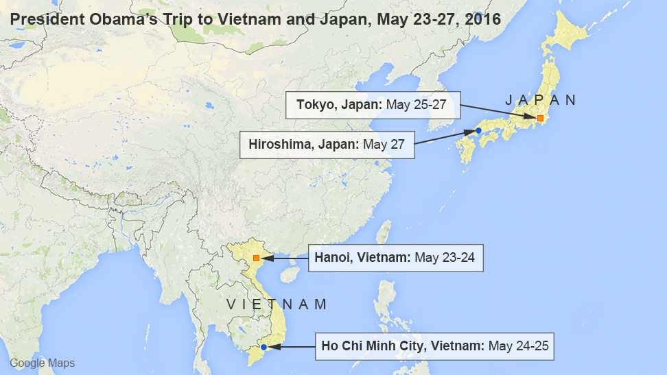 President Obama's Trip to Vietnam and Japan, May 23-27, 2016