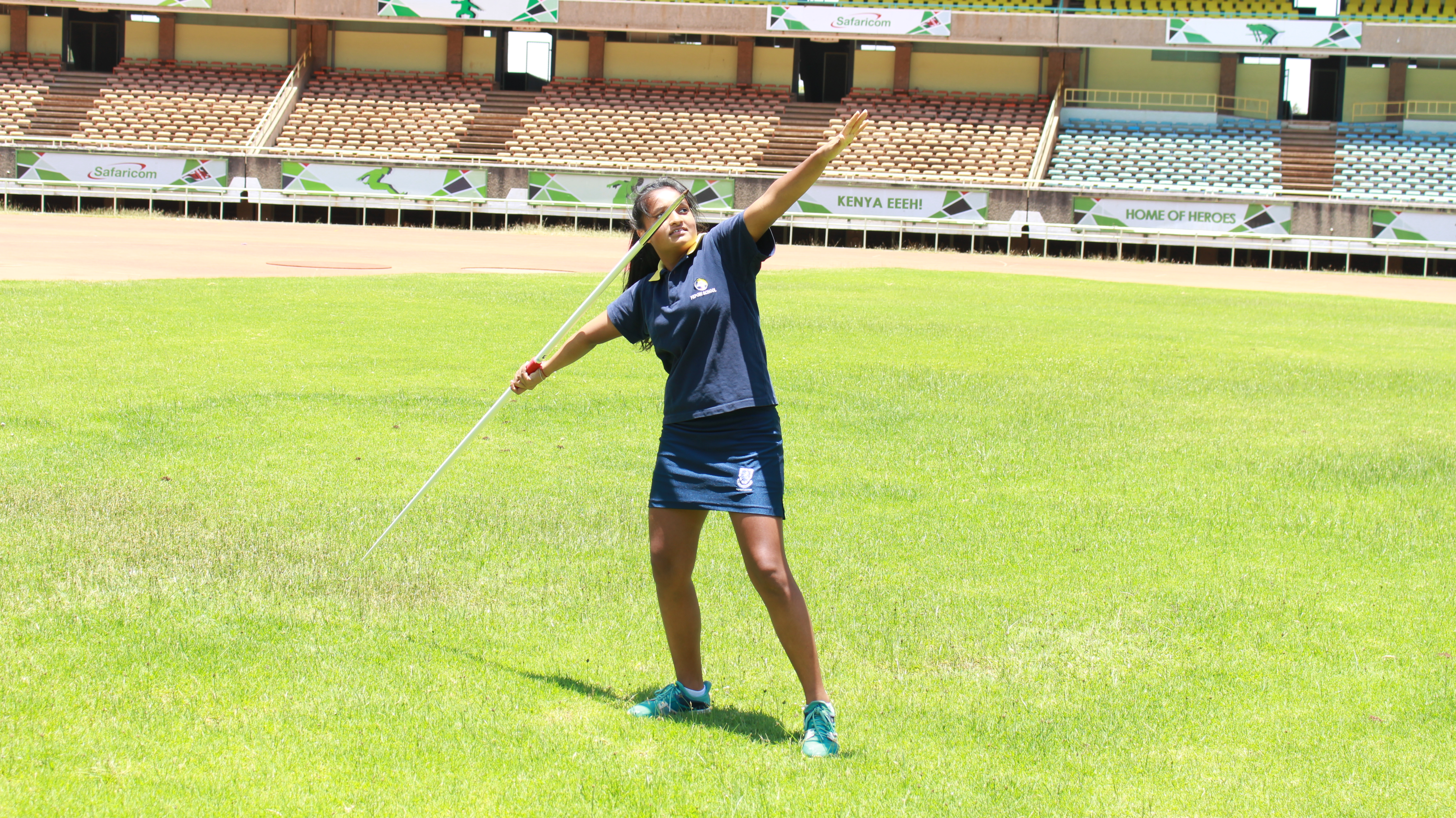 Banita Dodhia says training for the U18 Championships would be impossible without the support of her family. (L. Ruvaga/VOA)