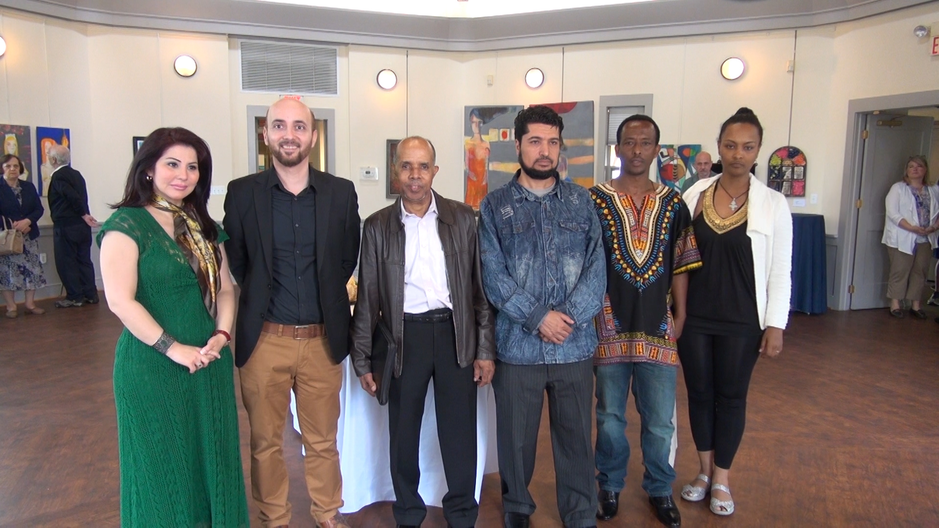 """Six artists from Iraq, Ethiopia and Somalia exhibit their work at the Sandy Spring Museum in Maryland, which bills itself as the """"heart of the community."""""""