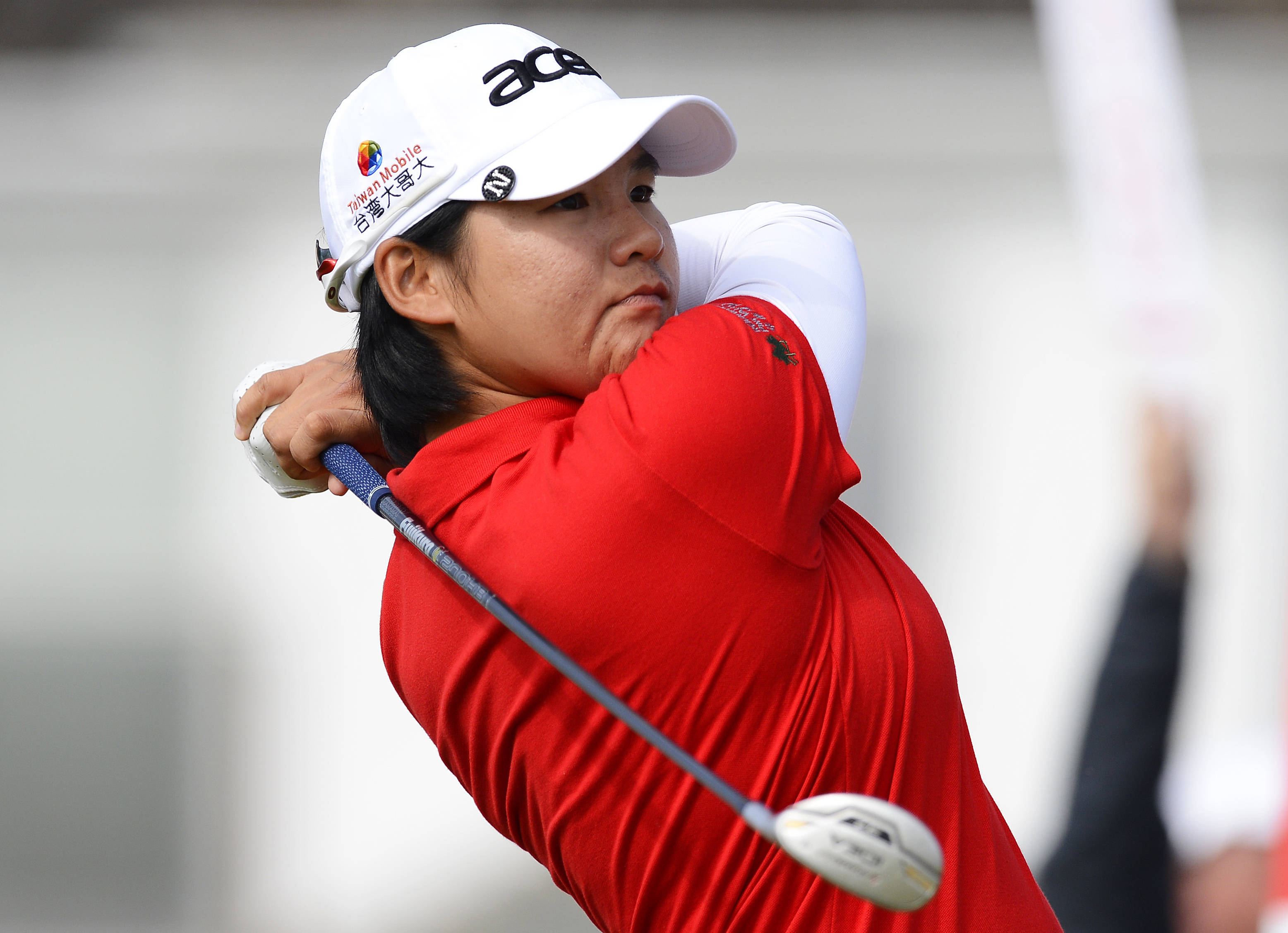 Yani Tseng of Taiwan hits her tee shot on the second hole during the second round of the British Women's Open Golf tournament at Royal Liverpool Golf Club, northern England, September 15, 2012.
