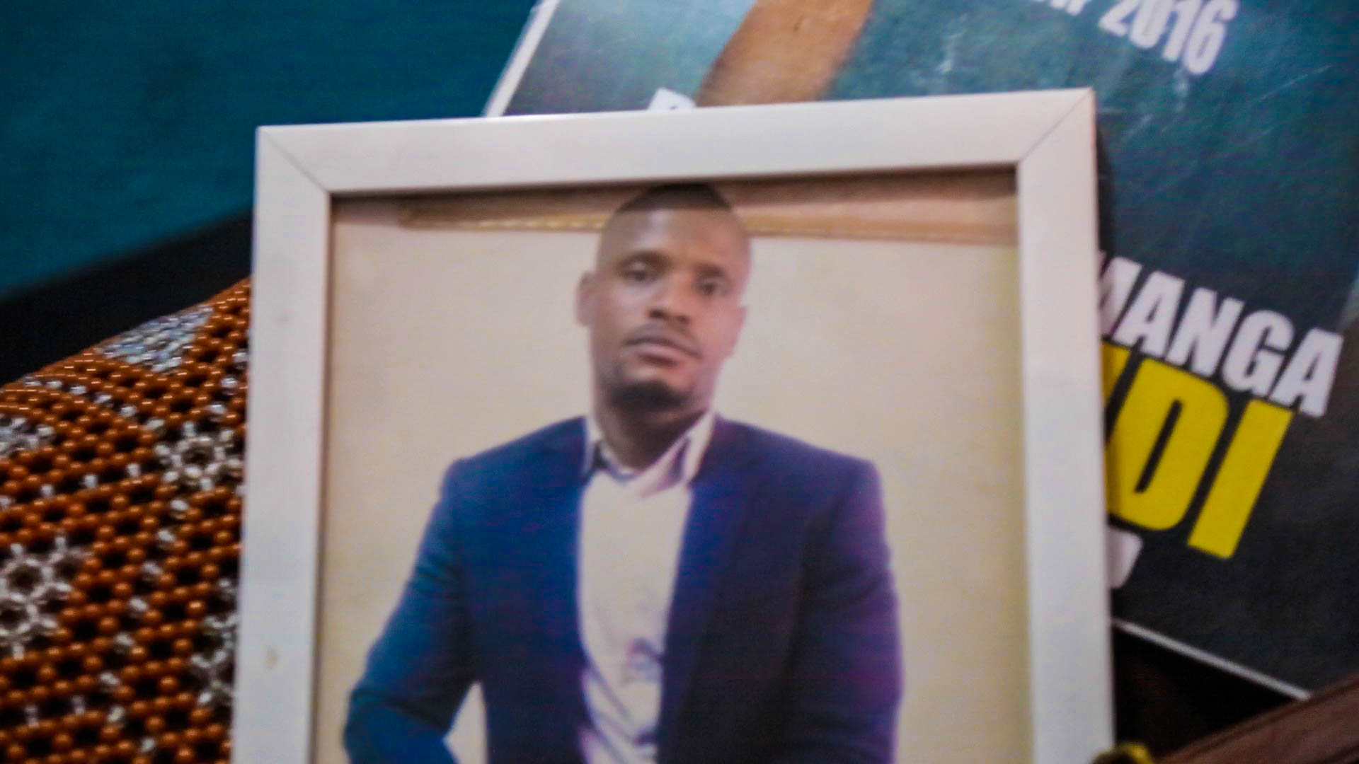 Rossy Mukendi was among those killed in street protests. He leaves behind his wife and two children. (C. Oduah/VOA)