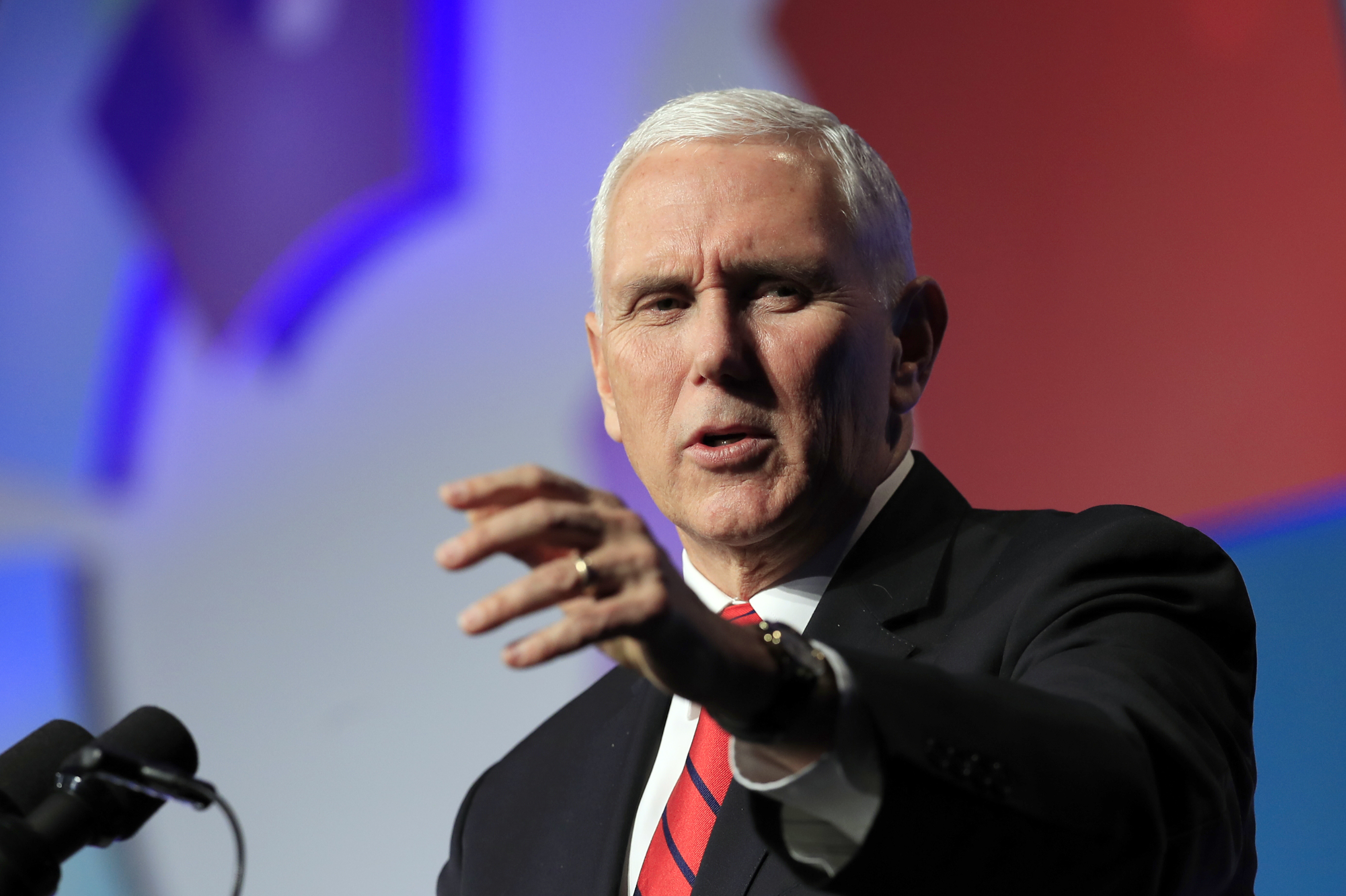 Vice President Mike Pence speaks at the Hidden Heroes 3rd Annual National Convening at the Capital Hilton in Washington, Nov. 26, 2018.