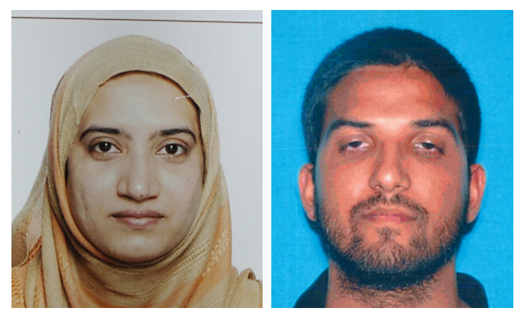 An undated combination of California Department of Motor Vehicles photos shows Tashfeen Malik, left, and Syed Farook, the husband and wife who died in a gunbattle with authorities after a mass shooting in San Bernardino, Calif., Dec. 2, 2015.
